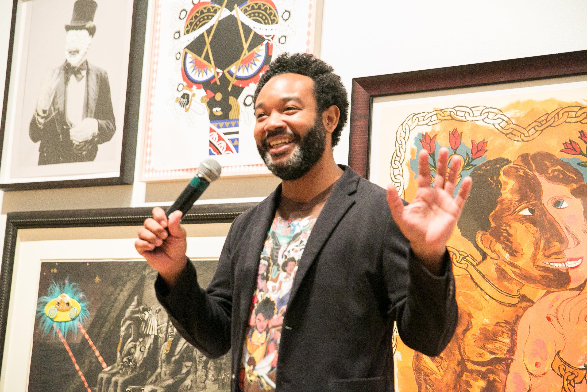 Co-curator Will Villalongo