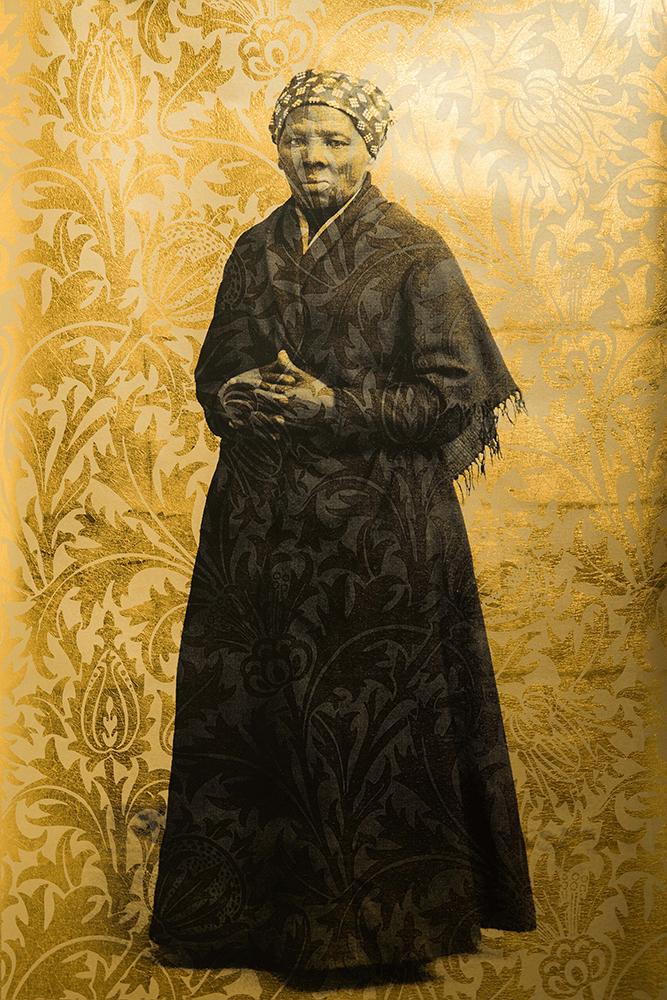 "Copy of Kyle Goen, ""Harriet Tubman on William Morris' 'Thistle' (Gold)"""
