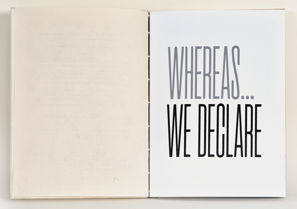 "Copy of KaKeArt (Ann Kalmbach & Tatana Kellner), ""Whereas, We Declare"""