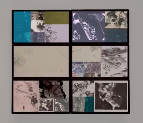 Kate Liebman   Strikes  from the series  Strikes,  2018 Animation made from multiple series of monoprints Runtime: 6:40 Printed and published by the artist
