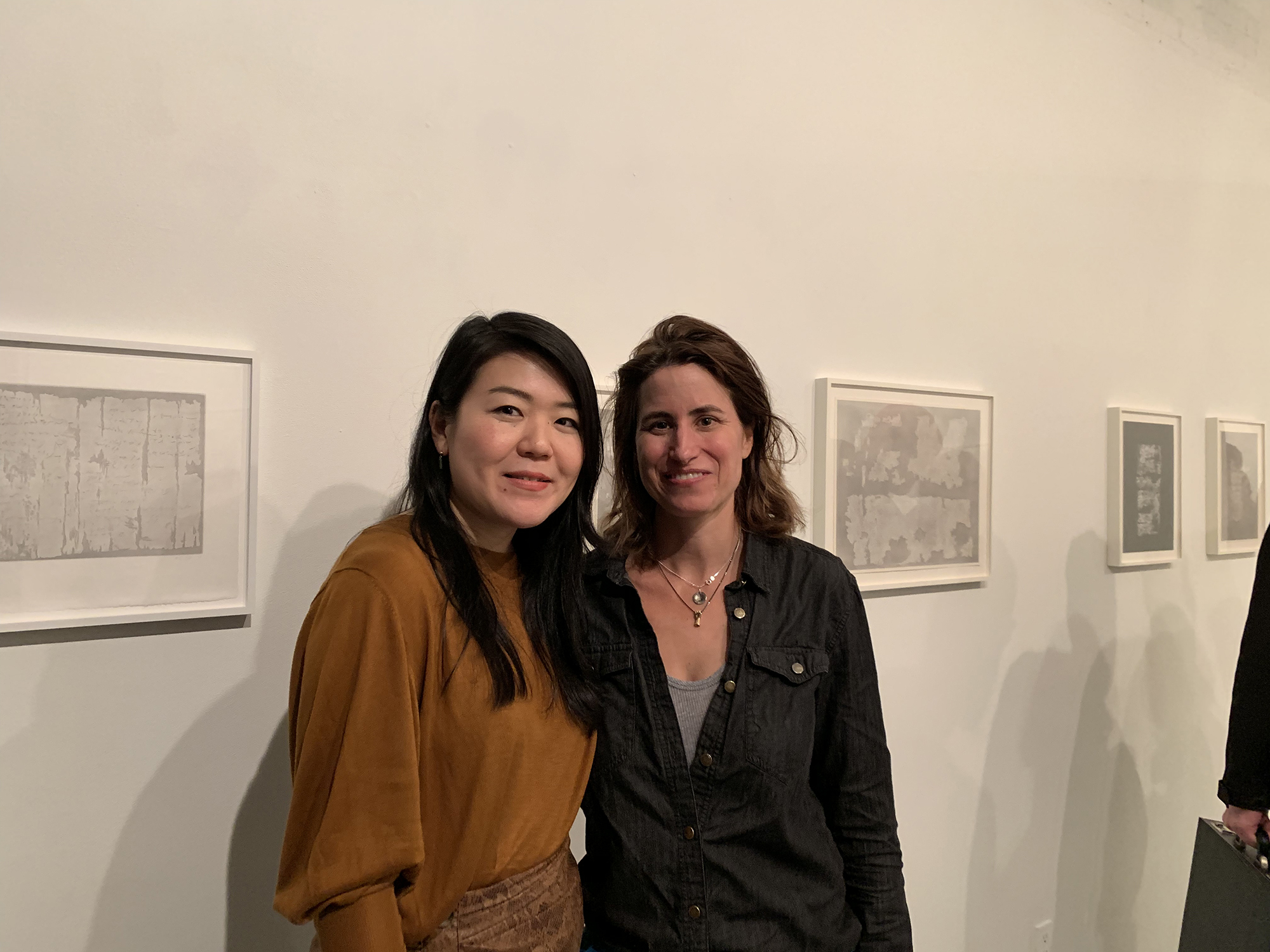 Naho Taruishi and Katie Michel, Founder of Planthouse, at the opening reception of  Papyrus.