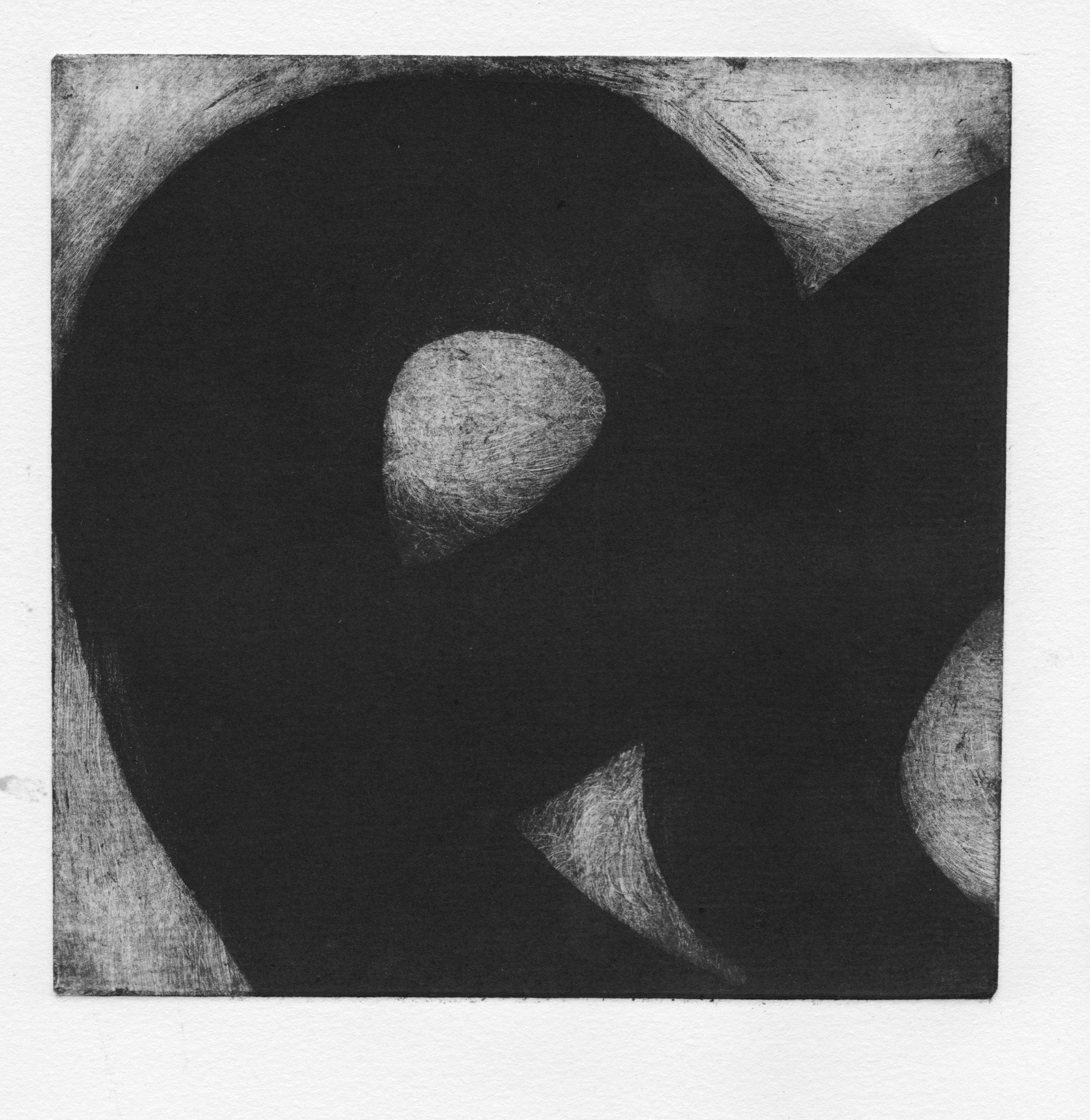 Douglas Collins   Untitled  from  Meng Hao-Ran Series , 2019 Etching Sheet: 14 x 7 1/2 inches Printed and published by the artist Edition: 4 Courtesy of the artist