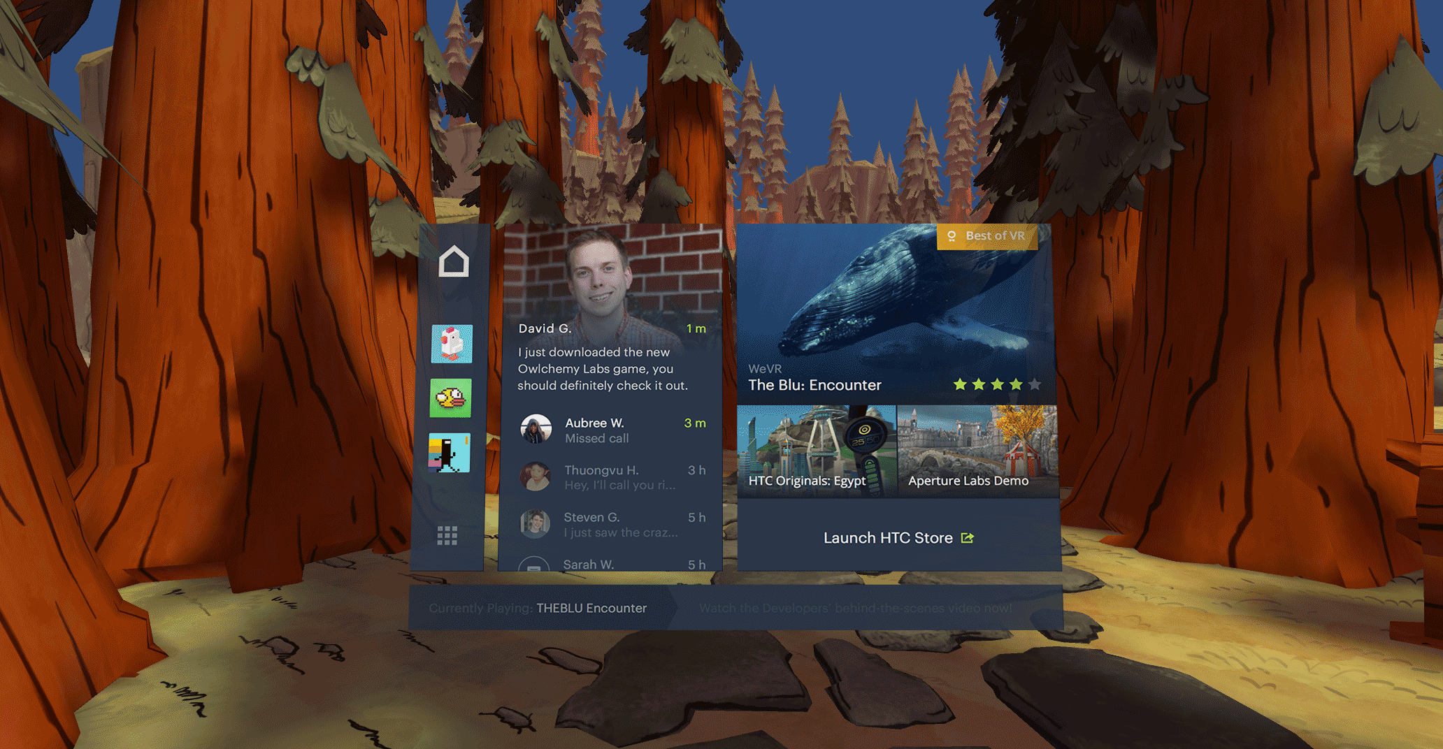 Early mockup of Vive dashboard