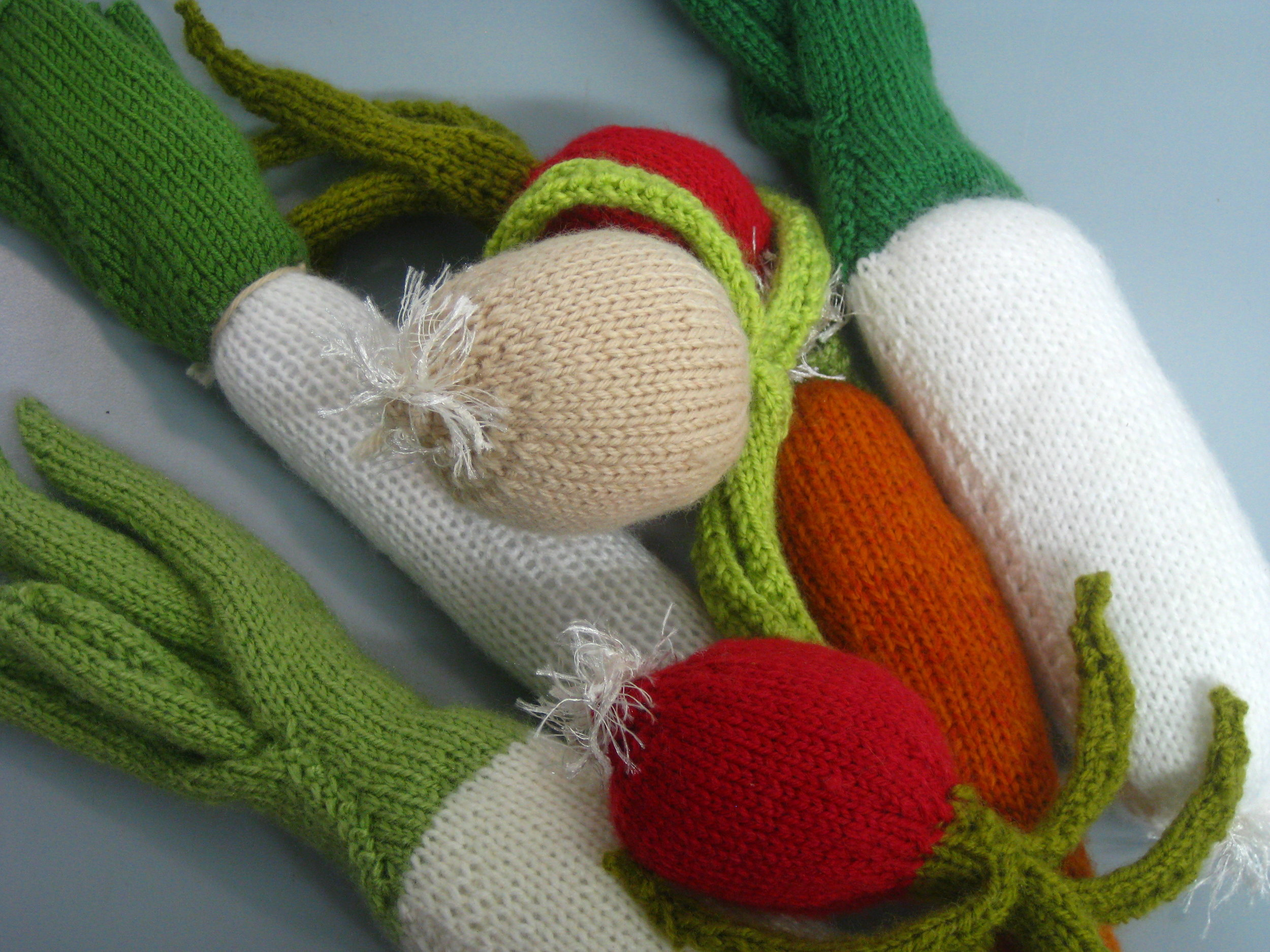 Cute knitted veggies to demonstrate what SASA are looking for when they do the DUS tests