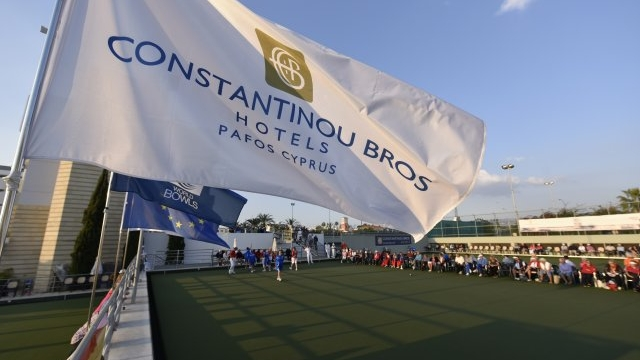 Athena Beach PAPHOS CYPRUS - Green Bowls Short & Long Mat Indoor Bowls