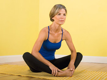 Butterfly Hip Stretch   Hold position for 10 seconds and release. Rest for 5 seconds. Do 4 sets of this exercise. Take your hand and push each knee down, allow the knee to rise back up and push down once more. Allow the pulsing to continue 5x.