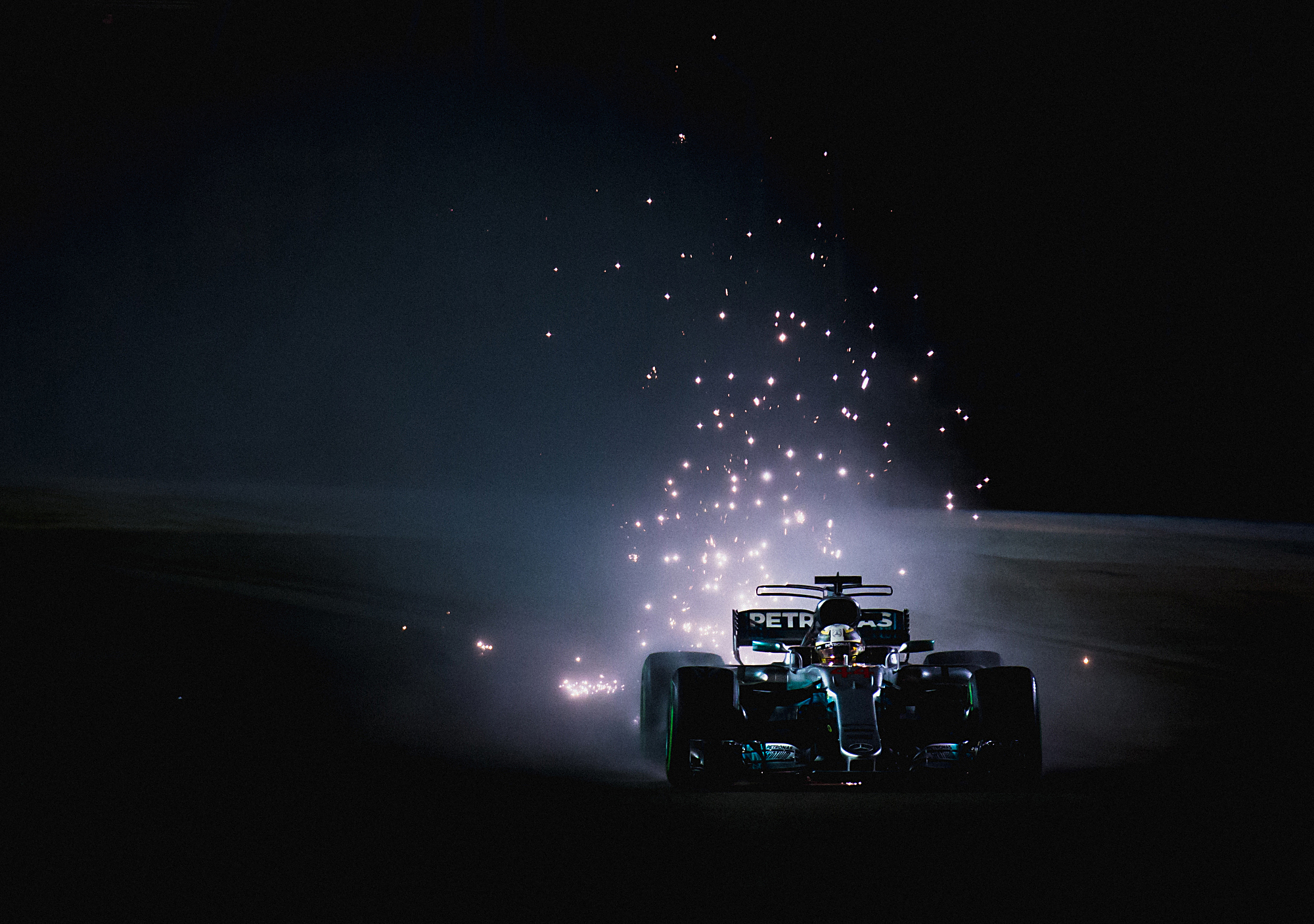 Lewis Hamilton, Mercedes. 2017 FIA Formula 1 Championship, Marina Bay, Singapore.