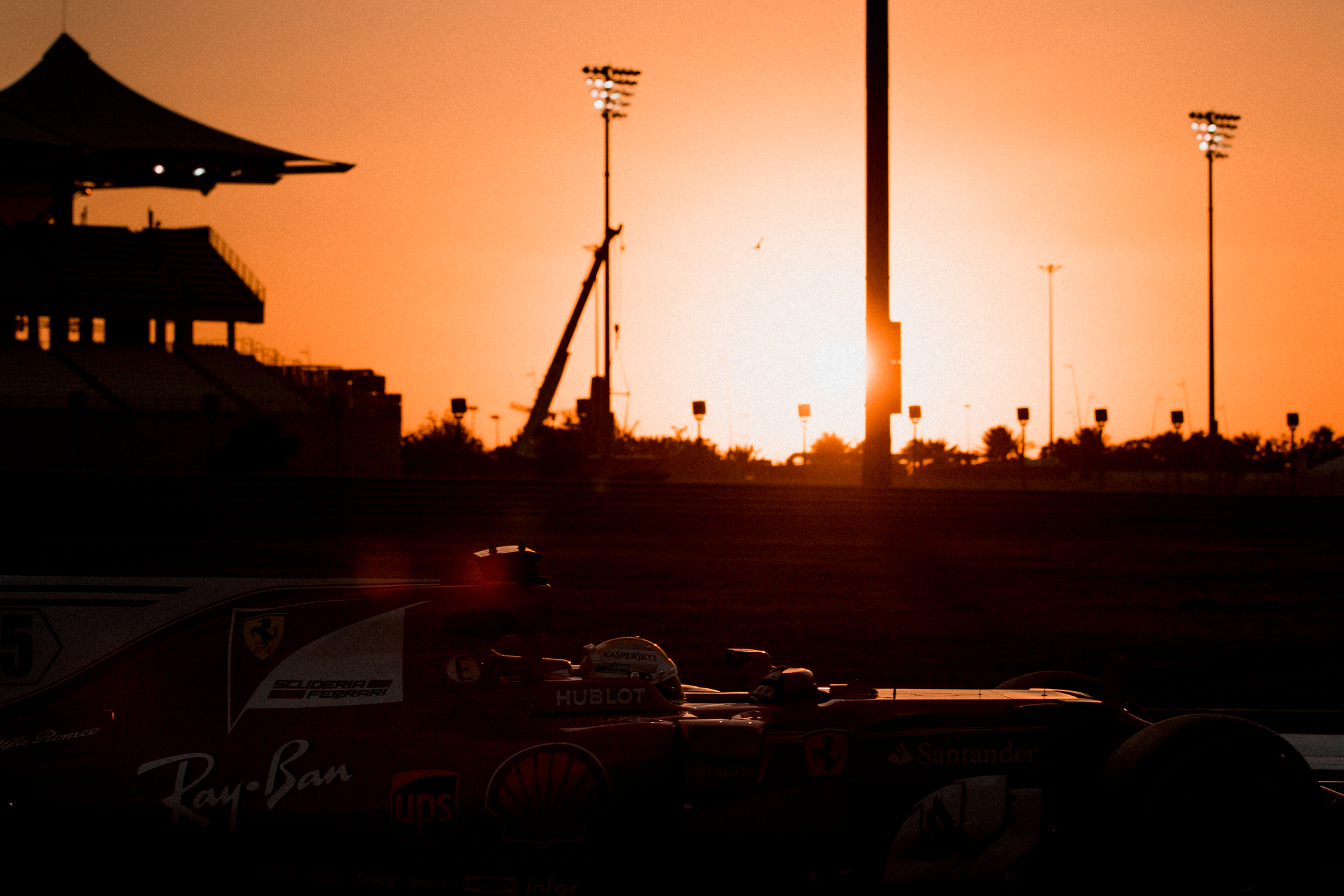 Kimi Raikkonen, Ferrari. 2017 FIA Formula 1 Championship, Abu Dhabi, UAE.