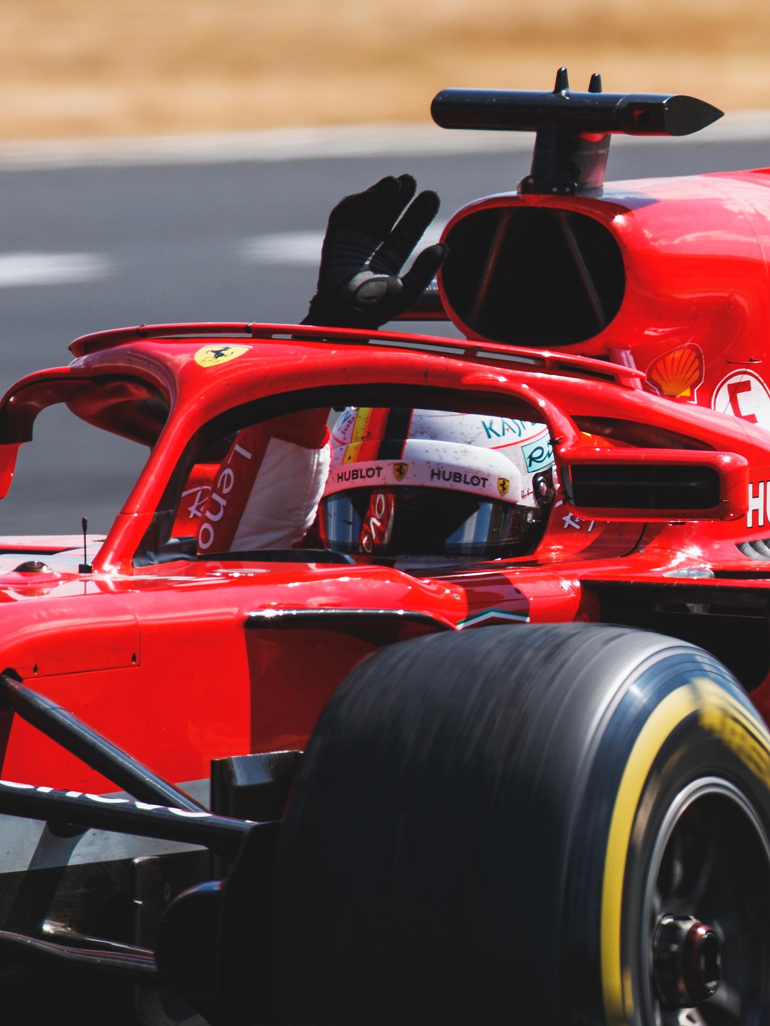Sebastian Vettel, Ferrari. 2018 FIA Formula 1 Championship, Silverstone, England.