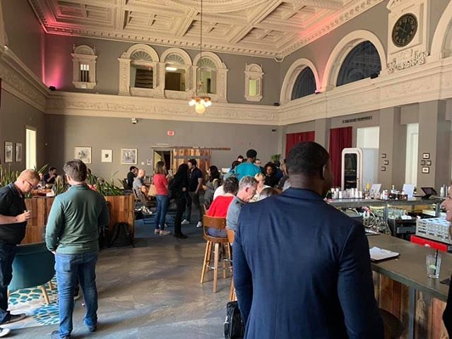 "It was so fun hosting Startup Grind STL's Fireside Chat last week! Entrepreneurs and innovators gathered to hear from David Karandish, the founder of Jane.ai. They also hosted a ""Quickfire Pitch-Off"" for early stage founders. 💥 Bring your next event to Covo by visiting the link in our bio. . . . @Teamjane.ai #TBT #stlouisgram #innovation #energy #covoSTL #coworking #events #STL #Startup #Entrepreneurship #Innovators #Amenities #stlouis #stlouisgram #startupgrind #startupgrindstl #stlouisgram #stlentrepreneurs #stlcoworking"