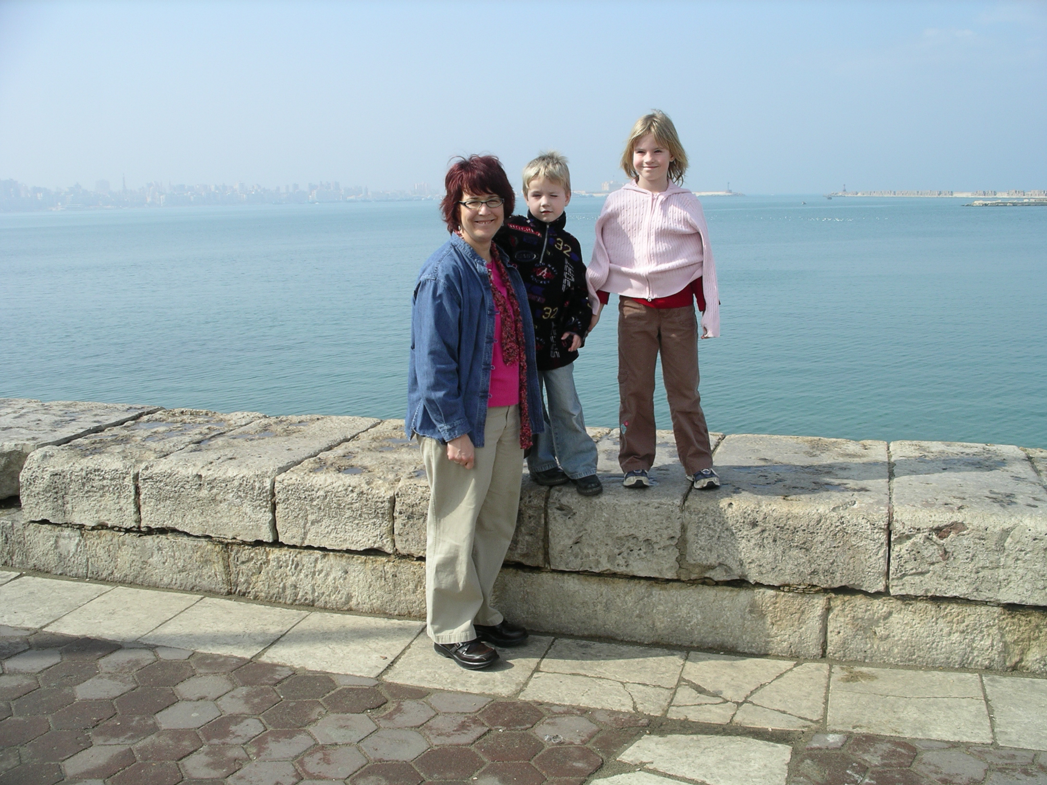I love this pic! We had recently moved to Cairo, Egypt in 2007 and were visiting Alexandria.