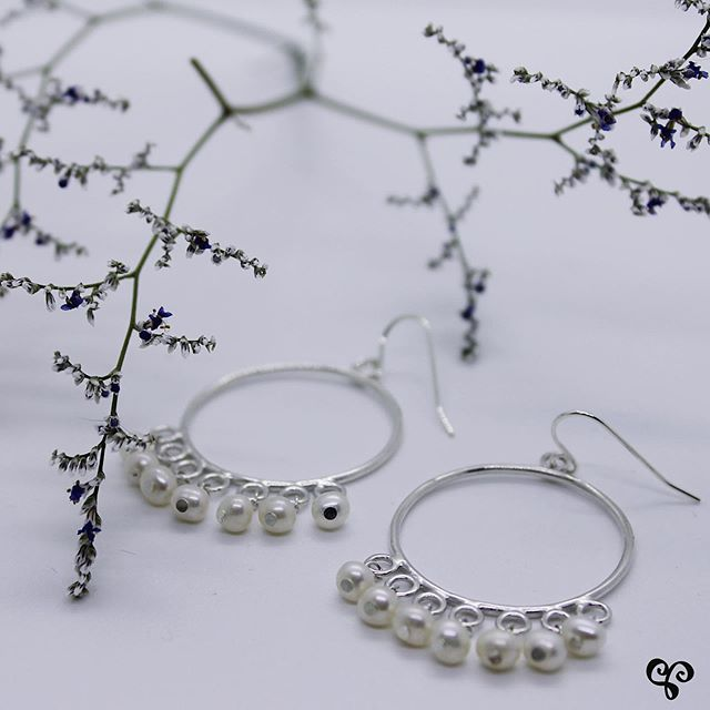 Silver and pearls! Stay tuned this Friday for something we've been working on - we can't wait to tell you all about! . . . . . #springstyle #artisanjewellery #comingsoon #excitingnews #silverandpearls #silverearrings #madeintoronto #madeincanada #somethingspecial