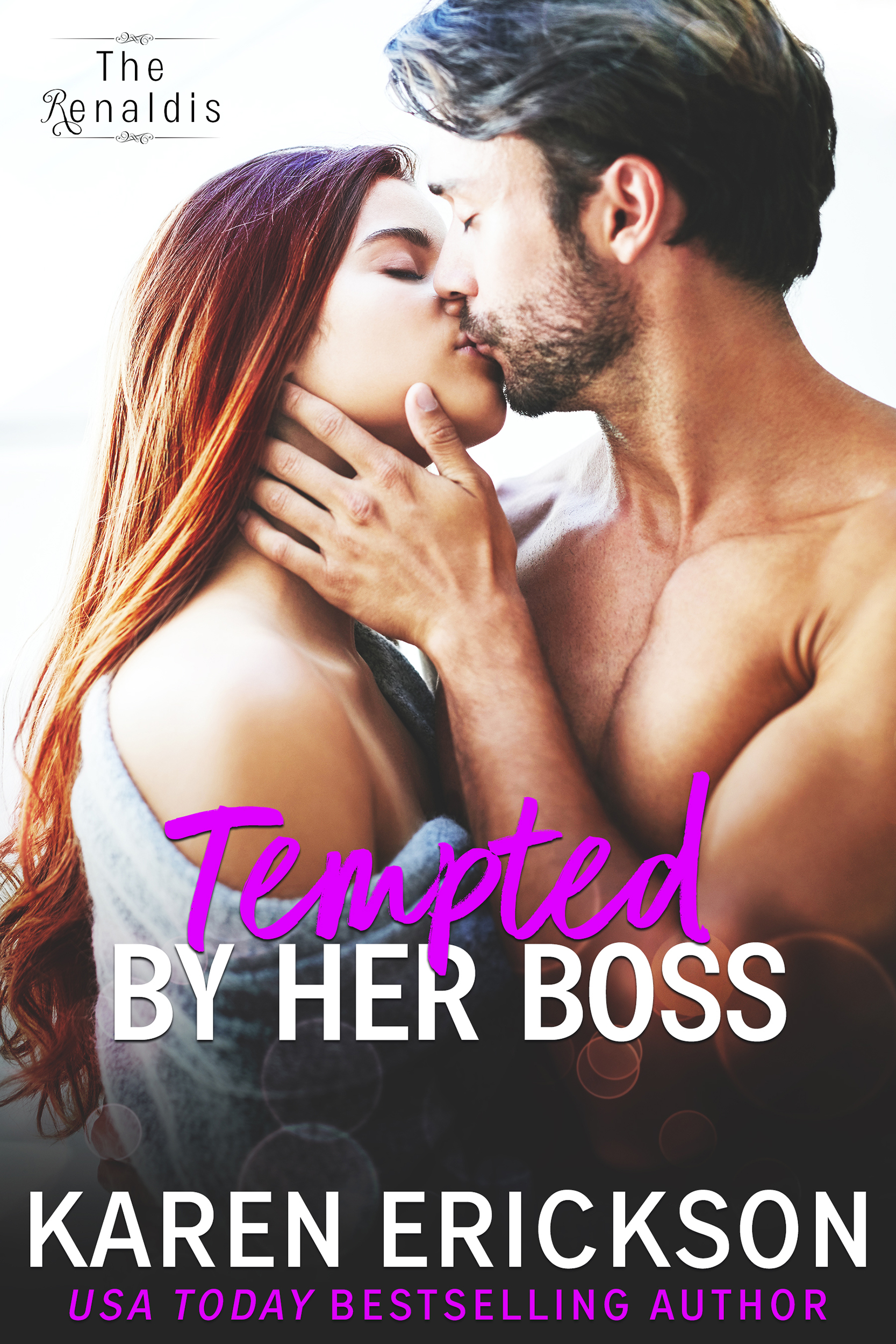 Tempted By Her Boss - The Renaldis, Book 1Amazon • B&N • iBooks • Kobo • GooglePlayBusiness? Meet pleasure…Paige Stewart loves her job. Nannying for little Matty is a pleasure.But she wants more.She wants the kind of pleasure that's found in her boss Matteo's master bedroom.Matteo Renaldi knows it's wrong to lust after his nanny. She's too sweet for him, too pure. Too young.But he can't help himself.The whispers start as soon as they get to his family home in Italy. But then, so does falling in love with her. And when one particularly ugly story blows up in their faces, their reputations might escape unscathed, but their hearts may not…Amazon • B&N • iBooks • Kobo • GooglePlay