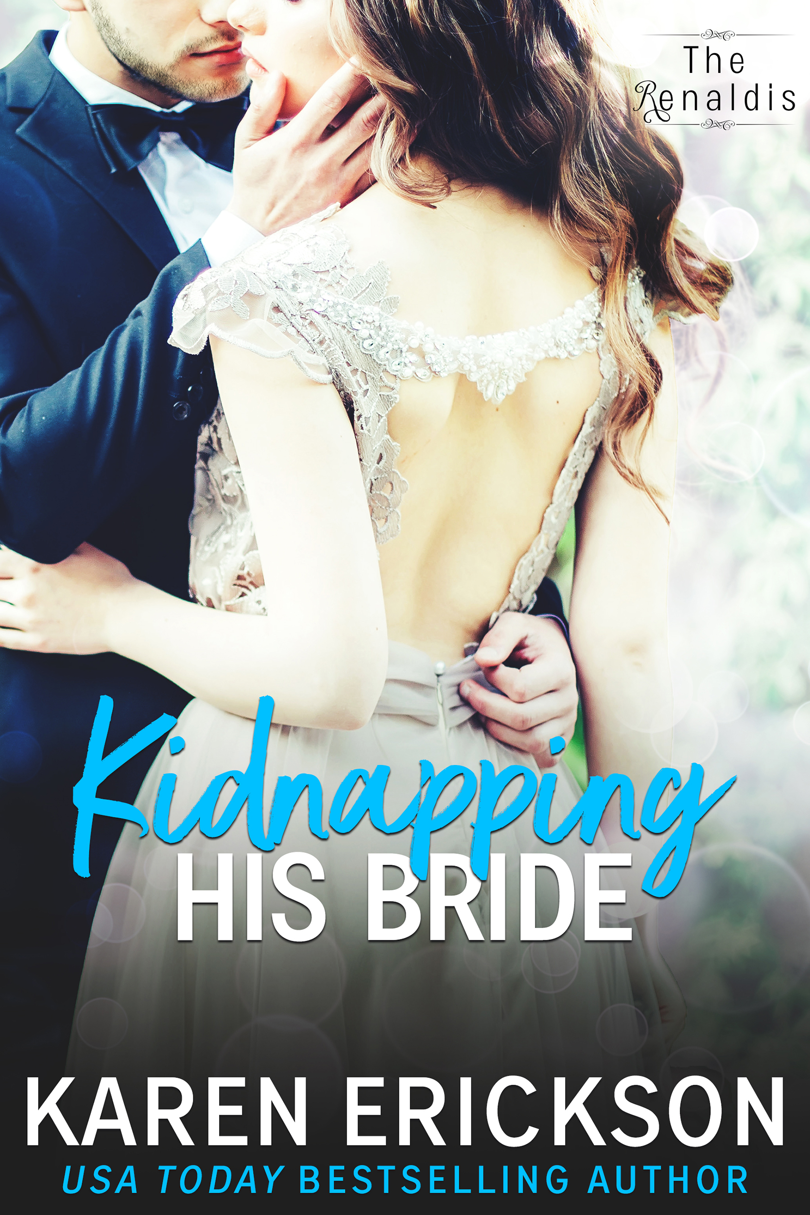 Kidnapping His Bride - The Renaldis, Book 2Amazon •B&N •iBooks •Kobo • GooglePlayCatch her if you can…Rafael Renaldi has always been in love with the woman his family arranged a marriage with. His memory of their single, searing kiss has sustained him until the time is right.Catalina Campioni does not think the time is right. A wedding and babies sounds boring—she craves adventure.When Rafe discovers what his intended truly wants, he does something crazy.He kidnaps her.If she wants adventure, he'll show it to her—along with every ounce of his legendary, womanizing charm.But he's not the only one playing a dangerous game.And even as Rafe and Cat fall in love, they may end up paying the ultimate price.Amazon •B&N •iBooks •Kobo • GooglePlay