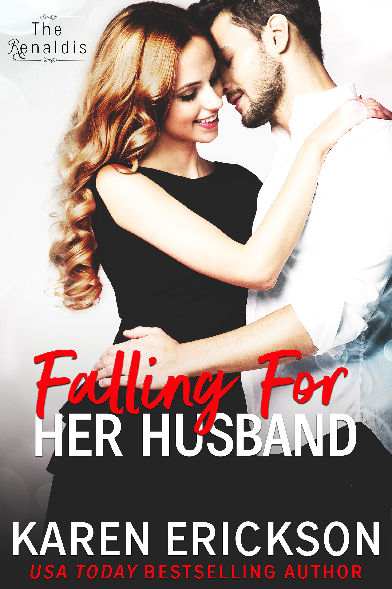 Falling For Her Husband - The Renaldis, Book 3Amazon • B&N • iBooks • Kobo • GooglePlayShe's desperate to remember…and he's desperate to forget.These are the things Amber Renaldi knows for sure:She's in the hospital.Her modeling career may be over.And her handsome husband will treat her like a queen, through her recovery and beyond. But there's a shadow lurking just beyond what she remembers before the crash.Vincenzo Renaldi knows other things.He was the one who chased her away, and into the path of the car.That even before the accident, the magic of their whirlwind romance was dissipating.And that if Amber ever remembers everything, he could lose her again—this time forever.Amazon • B&N • iBooks • Kobo • GooglePlay