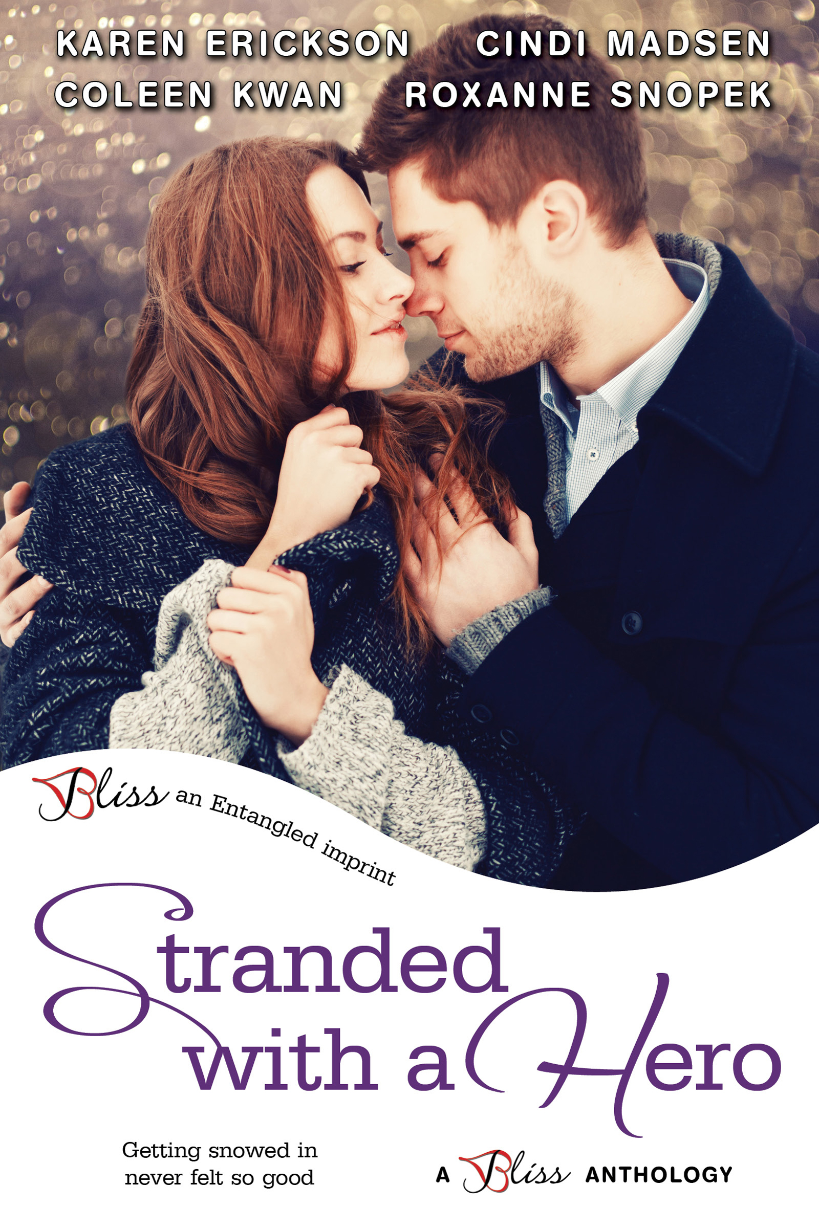 Stranded With A Hero - Lone Pine Lake, Book 3Amazon •B&N •iBooks •Kobo • BAM •GooglePlayGetting snowed in never felt so good as boundaries are crossed, opposites attract, and friends discovering more promise a Christmas no one will ever forget.Loving Mindyby Karen EricksonMindy can't believe she's stuck with her ex–best friend—and the man whose heart she broke years ago—for the holidays, though the tension between them is more than enough to keep them warm. Josh Powers never forgot Mindy, but he can't risk his heart a second time.White-Hot Holidayby Coleen KwanNaomi's sworn off men like Aaron—rich, cocky, and dismissive of holiday traditions. Aaron decided to spend Christmas in sunny Australia to avoid snowy New York, not to fall for the woman his best friend warned him away from. But when a volcano grounds him, Aaron and Naomi's relationship becomes eruptive.An Officer and a Rebelby Cindi MadsenThe last person police officer Nate Walsh expected to discover in a snowstorm is his brother's ex and former town rebel, Kelsey Cooper. She's his complete opposite and totally off-limits, but as they wait out the storm together, all he can think is how he wishes she'd stay forever.Saving the Sheriffby Roxanne SnopekFrankie Sylva was determined to free the captive reindeer, even if it meant risking her own life. Deputy Sheriff Red LeClair set out to save a stranger in a snowstorm, never expecting he'd be the one to be rescued.Amazon •B&N •iBooks •Kobo • BAM •GooglePlay