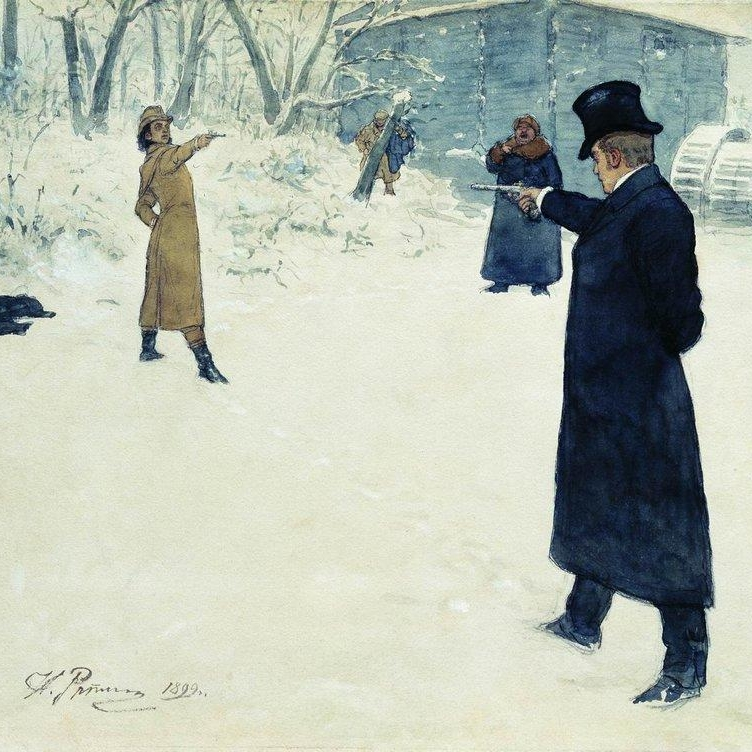 """- """"Now in anger,like hereditary enemies,we silently and coldbloodedlyprepare to destroy each other.""""-Eugene Onegin"""