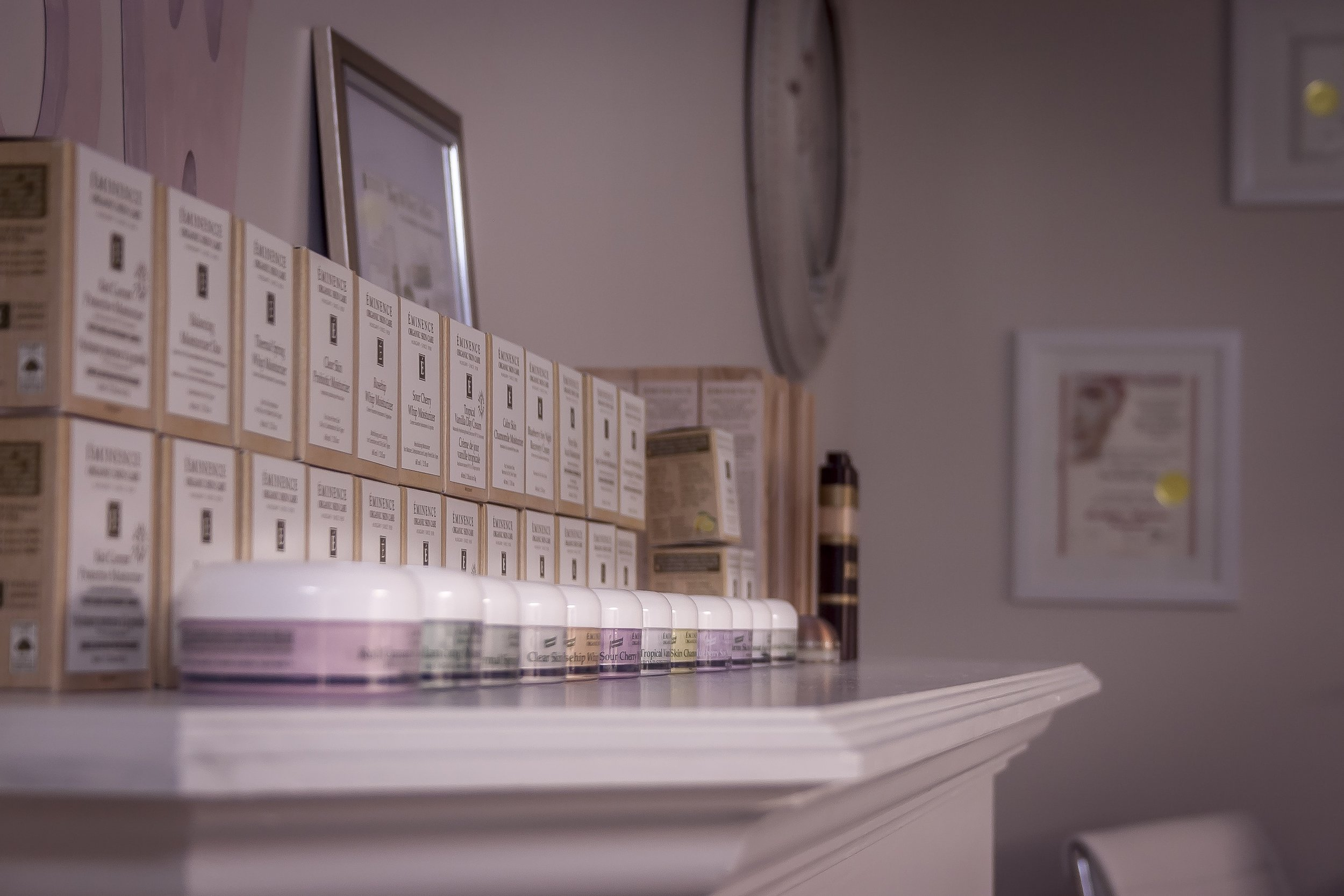 We carry a beautiful array of face creams and serums