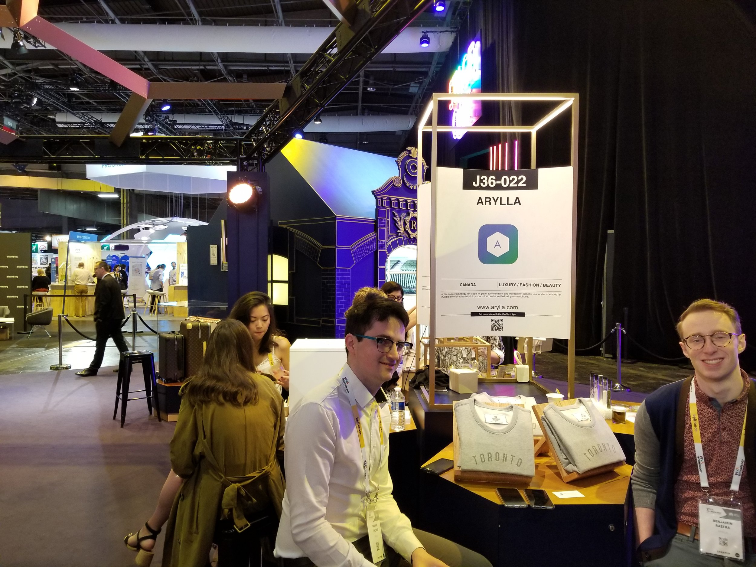 A view of our booth in the LVMH Luxury Lab