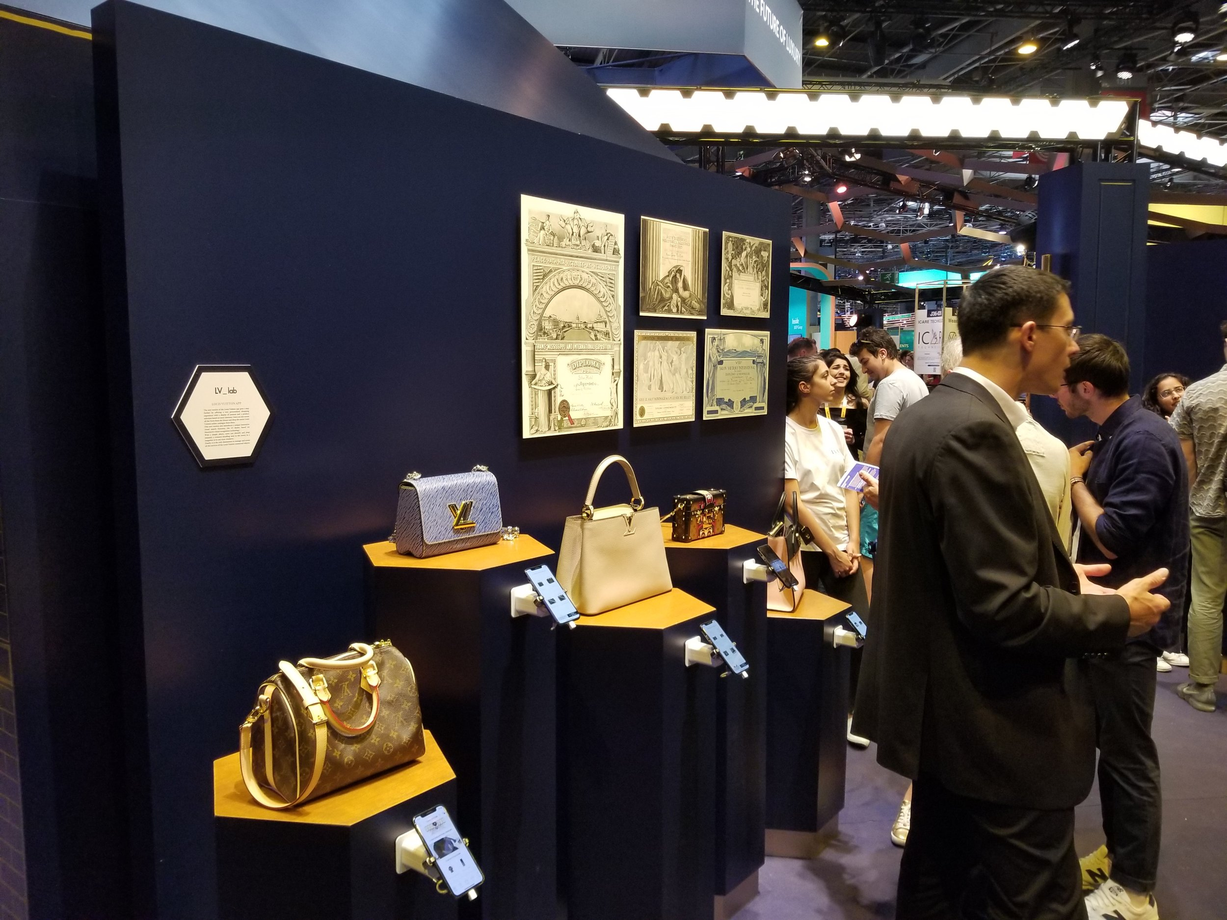 The Louis Vuitton Lab showing off their new visual search tool.