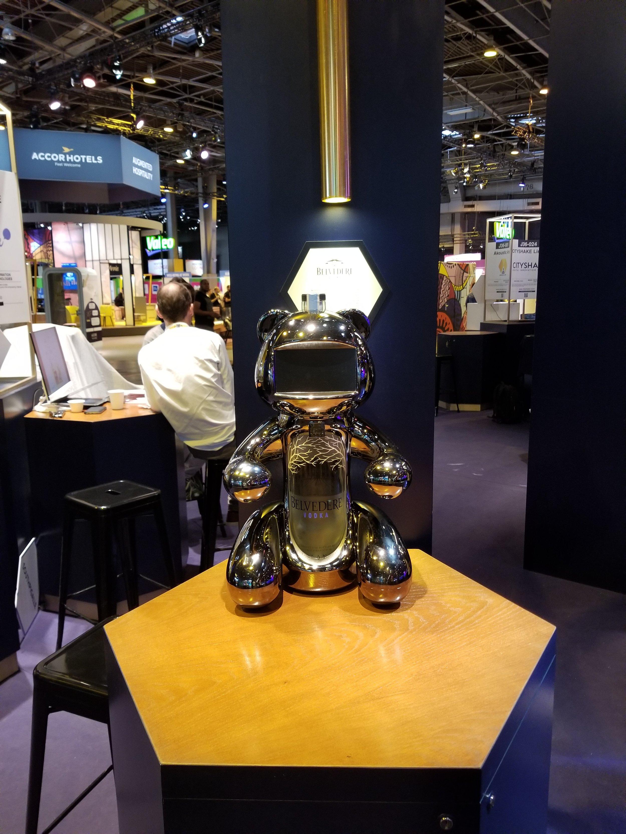 Thank you for the Belvedere vodka metallic robot bear!