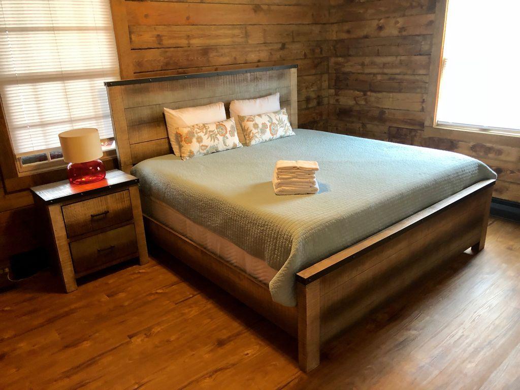 1st floor- 1st bedroom- King bed