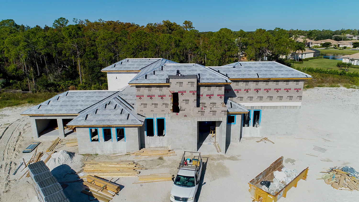 Photo of custom home build in the Hidden Pines community in Fort Myers, Florida.