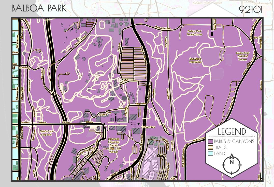 Close up trail map