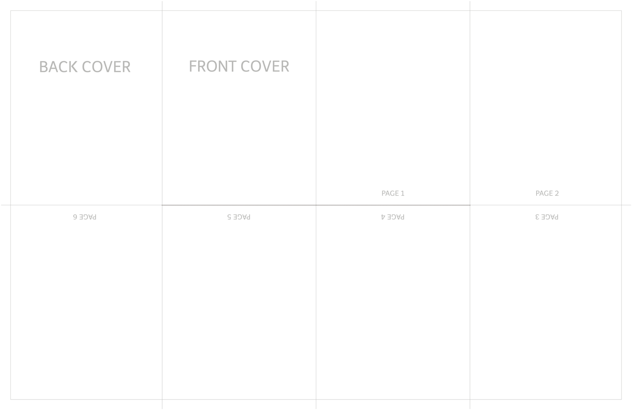 TEMPLATE WITH PAGE NOTATIONS - Just cut on the dotted lines and fold on the solid.