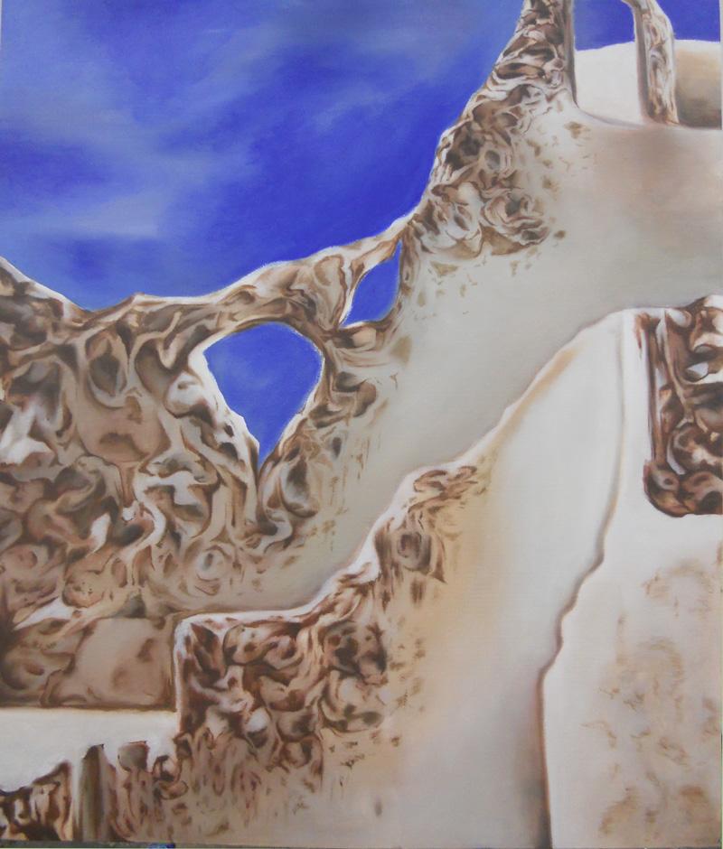 """White Cliffs.  18""""x24"""", oil on canvas. 2011."""
