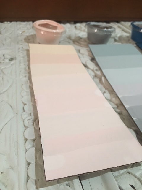 Pastel pink color swatches