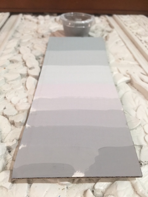 Grey swatch card adjustments
