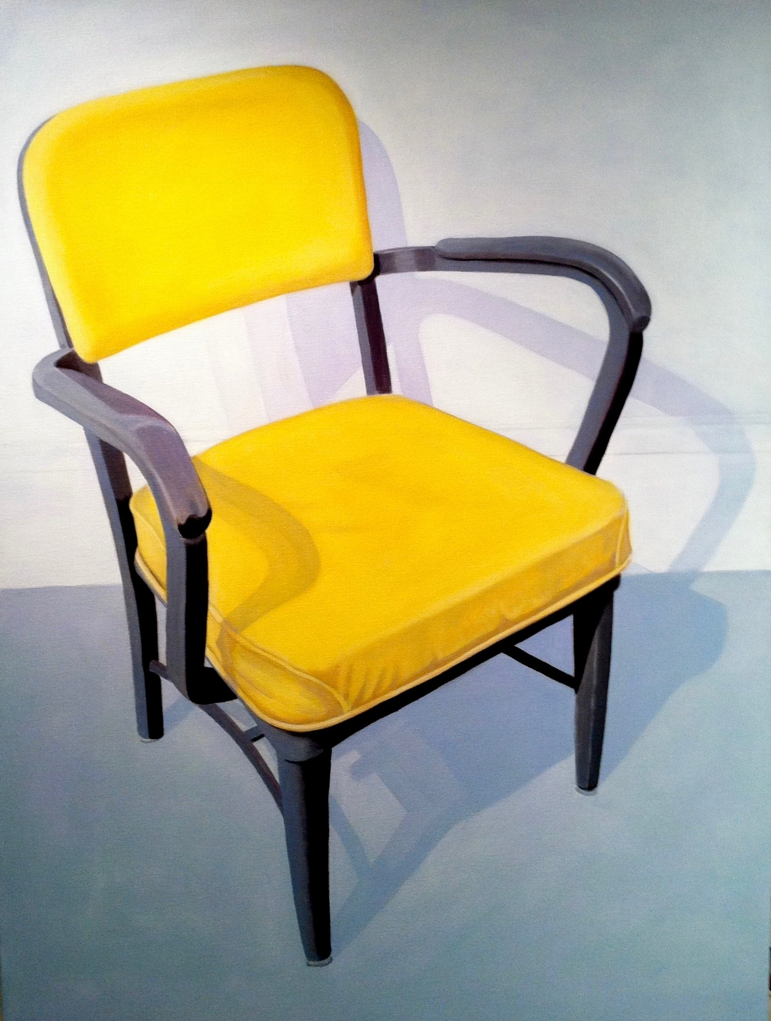 Yellow Office Chair, 36 x 48, acrylic