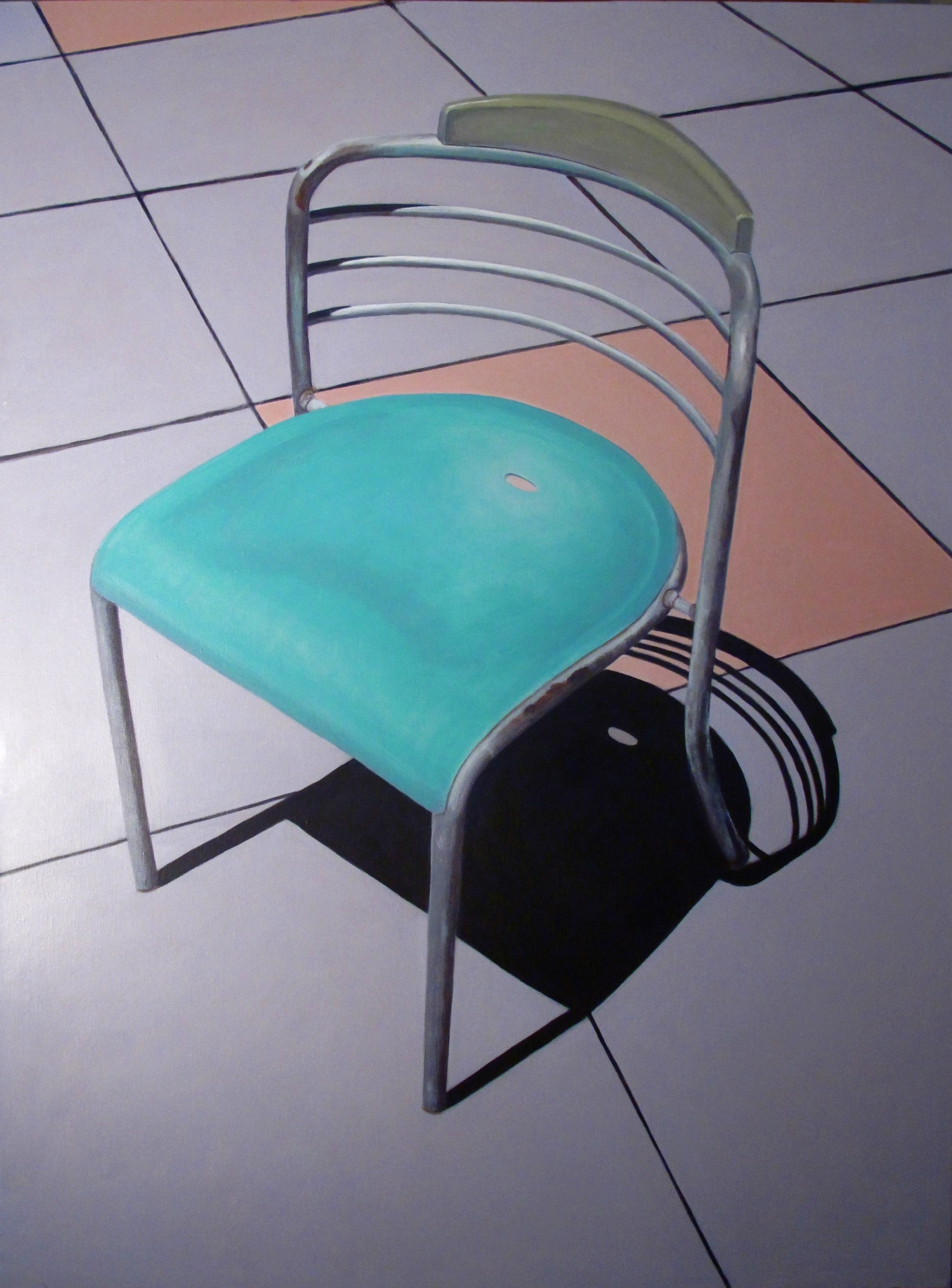 Union Square Chair, 2010, 30 x 40, acrylic on canvas