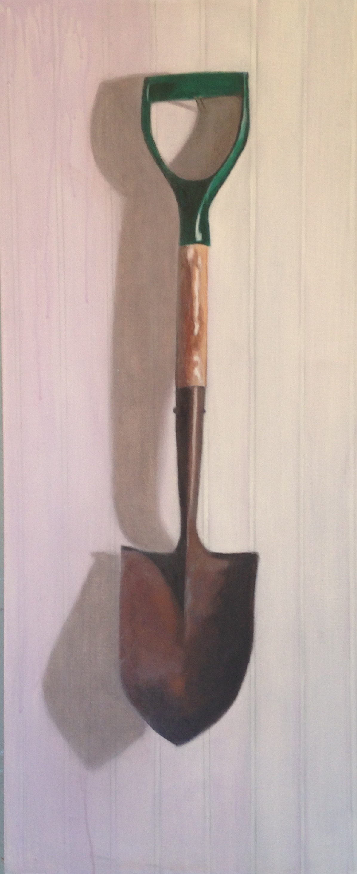 The Shovel, 15 x 36, acrylic