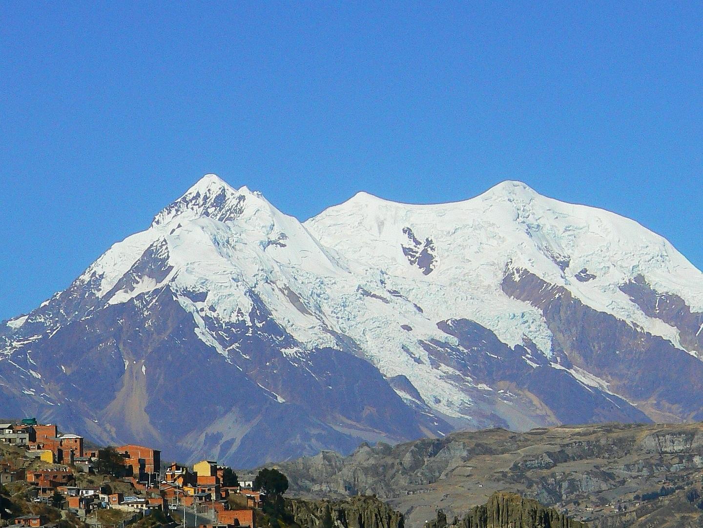 View of Huayna Potosi Mountain from La Paz