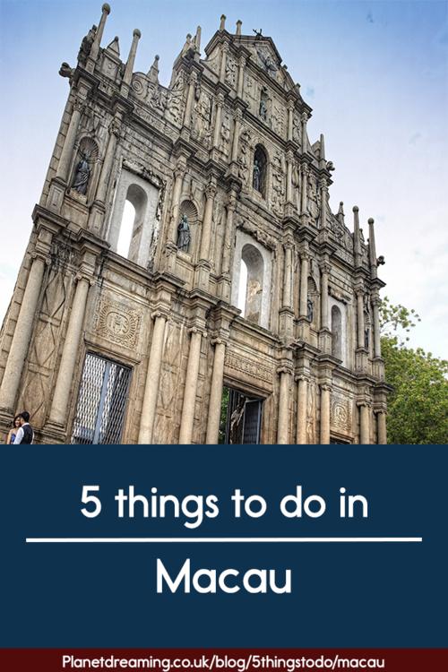 5 Things to do in Macau