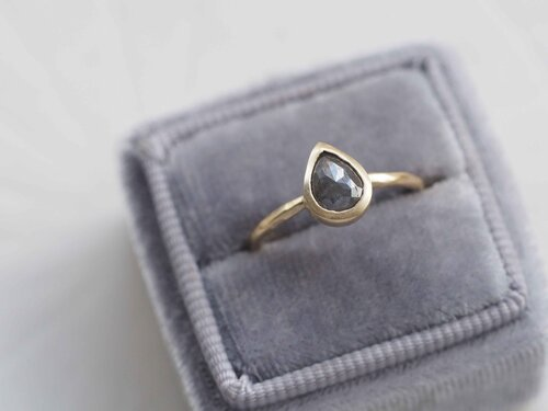Chunky Ripple Ring  Faceted Solid Sterling Silver Ring  Modern Minimal Jewelry Design