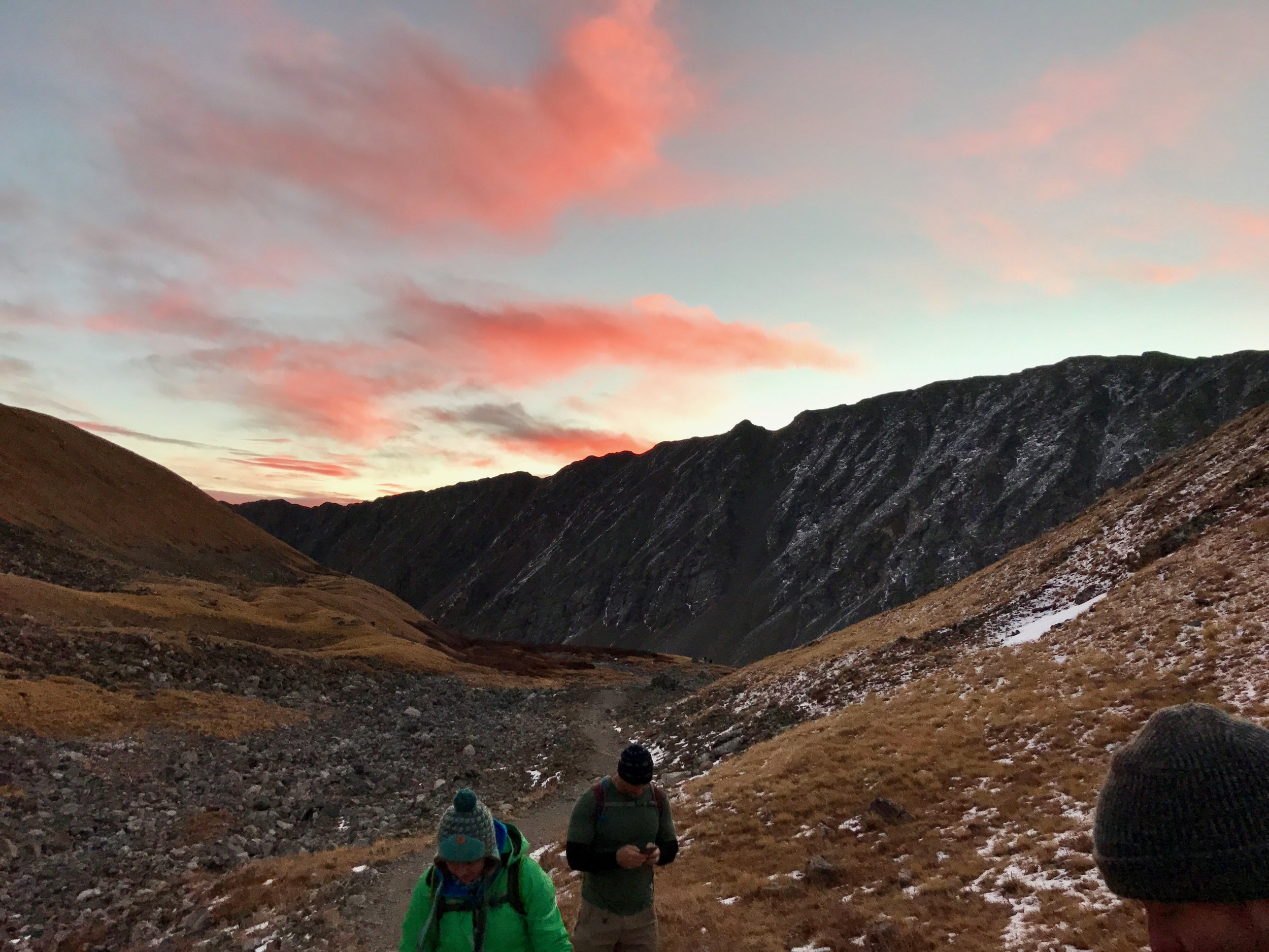 I would highly recommend starting this hike before sunrise. Something about mountains and colored clouds can't be beat.