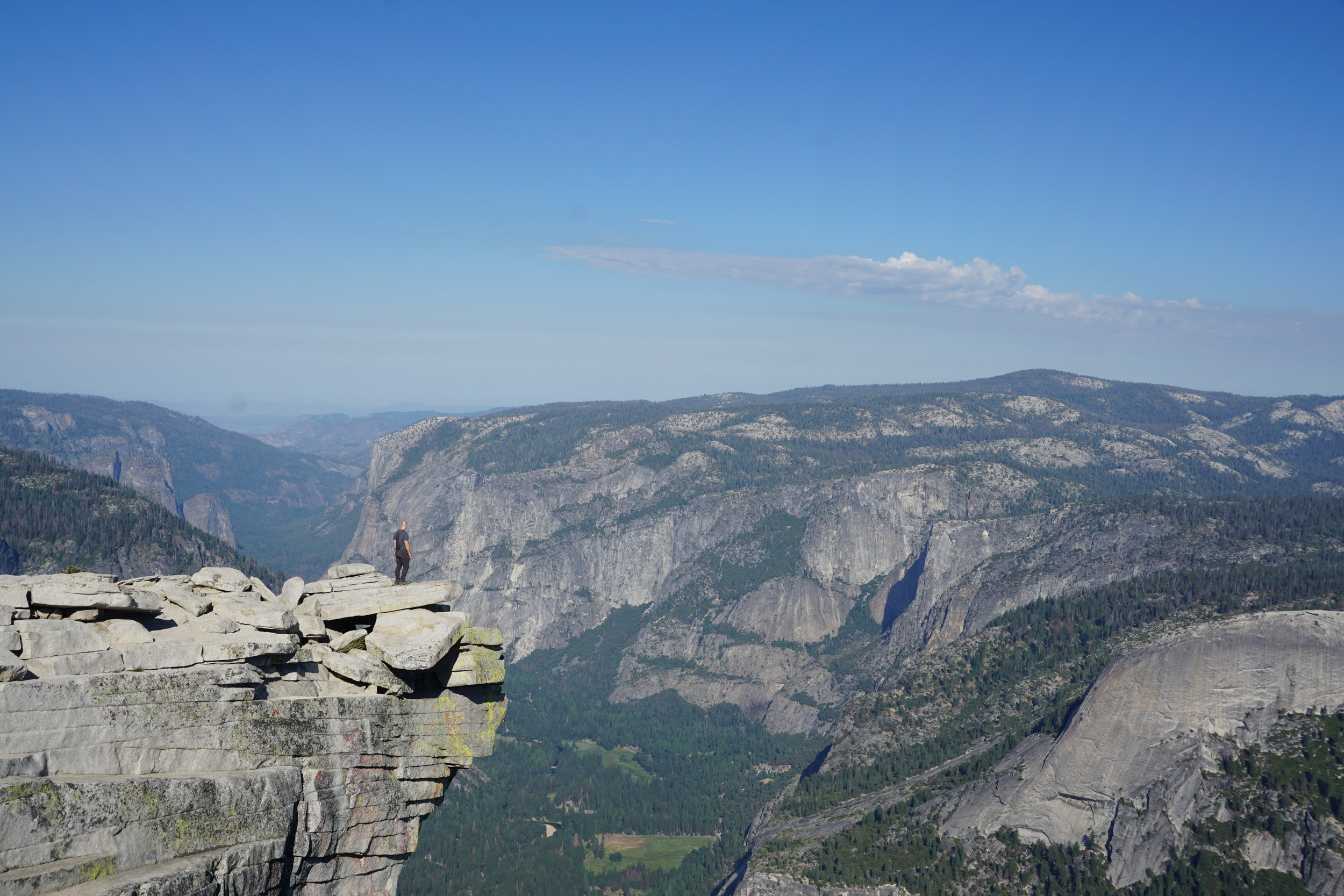 """Diving Board"" on Half Dome"