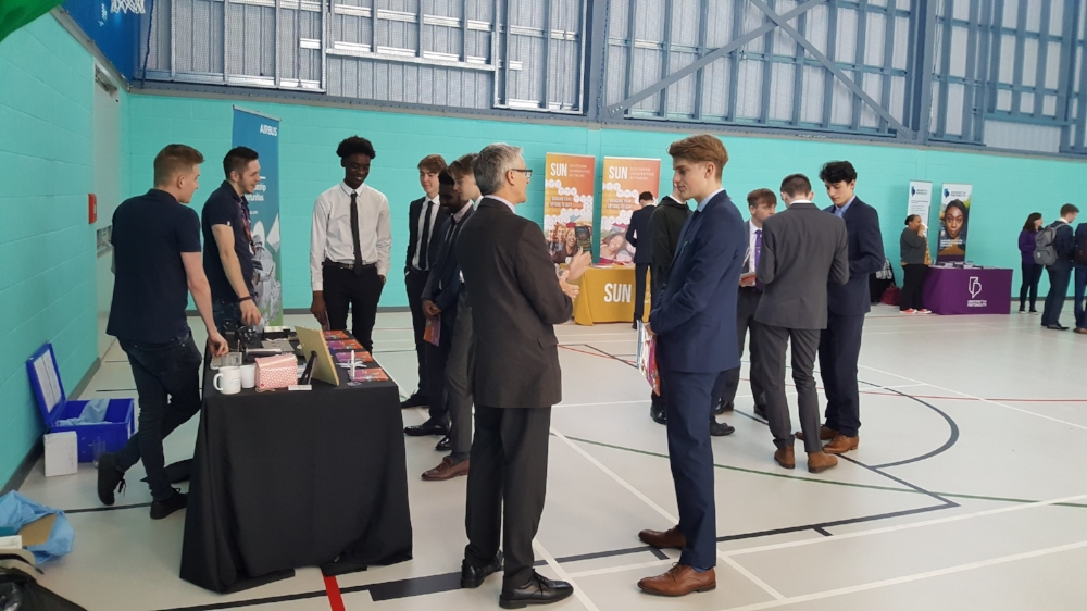 Students at the careers fair that was part of Progression Week