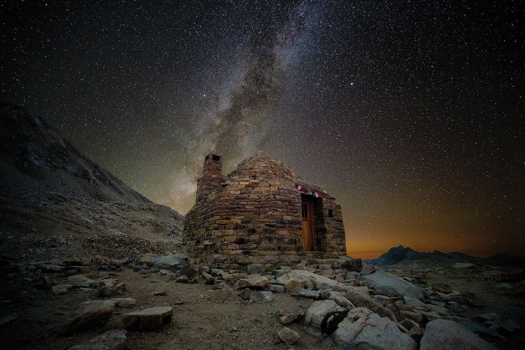 Muir Hut under the Milky Way