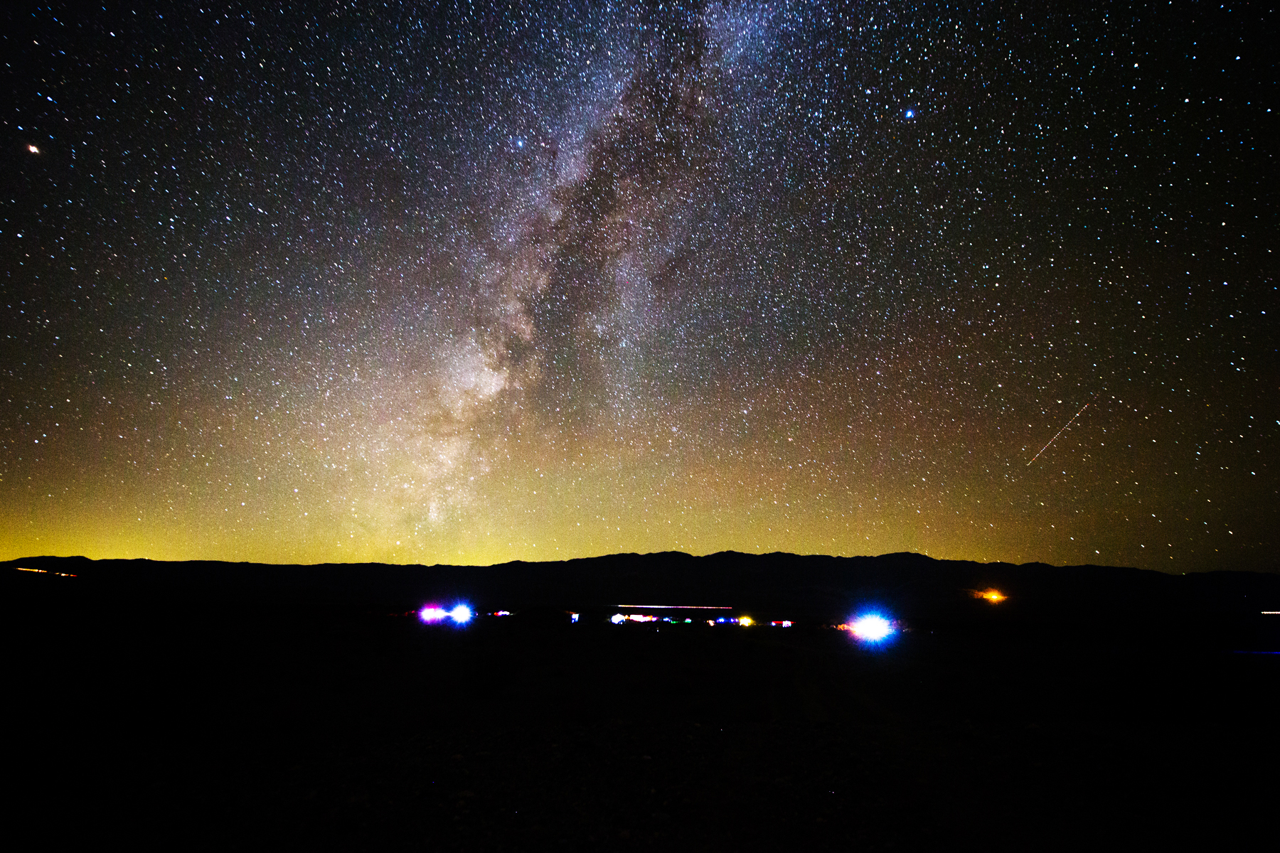 The sky is alive over a star party at the Death Valley Stargazing Camp