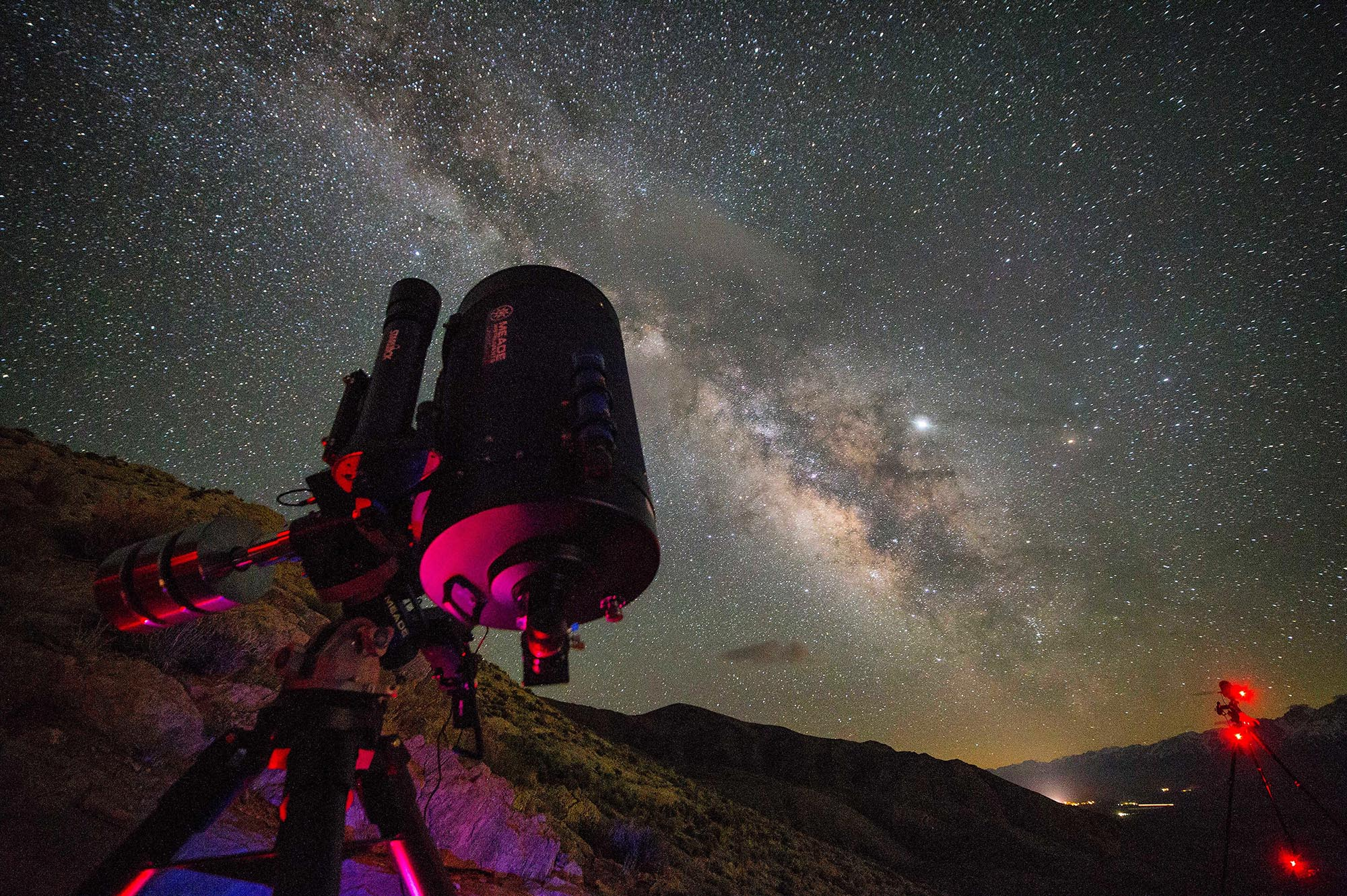 "Observe and even photograph the cosmos with the amazing 14"" Meade LX850"