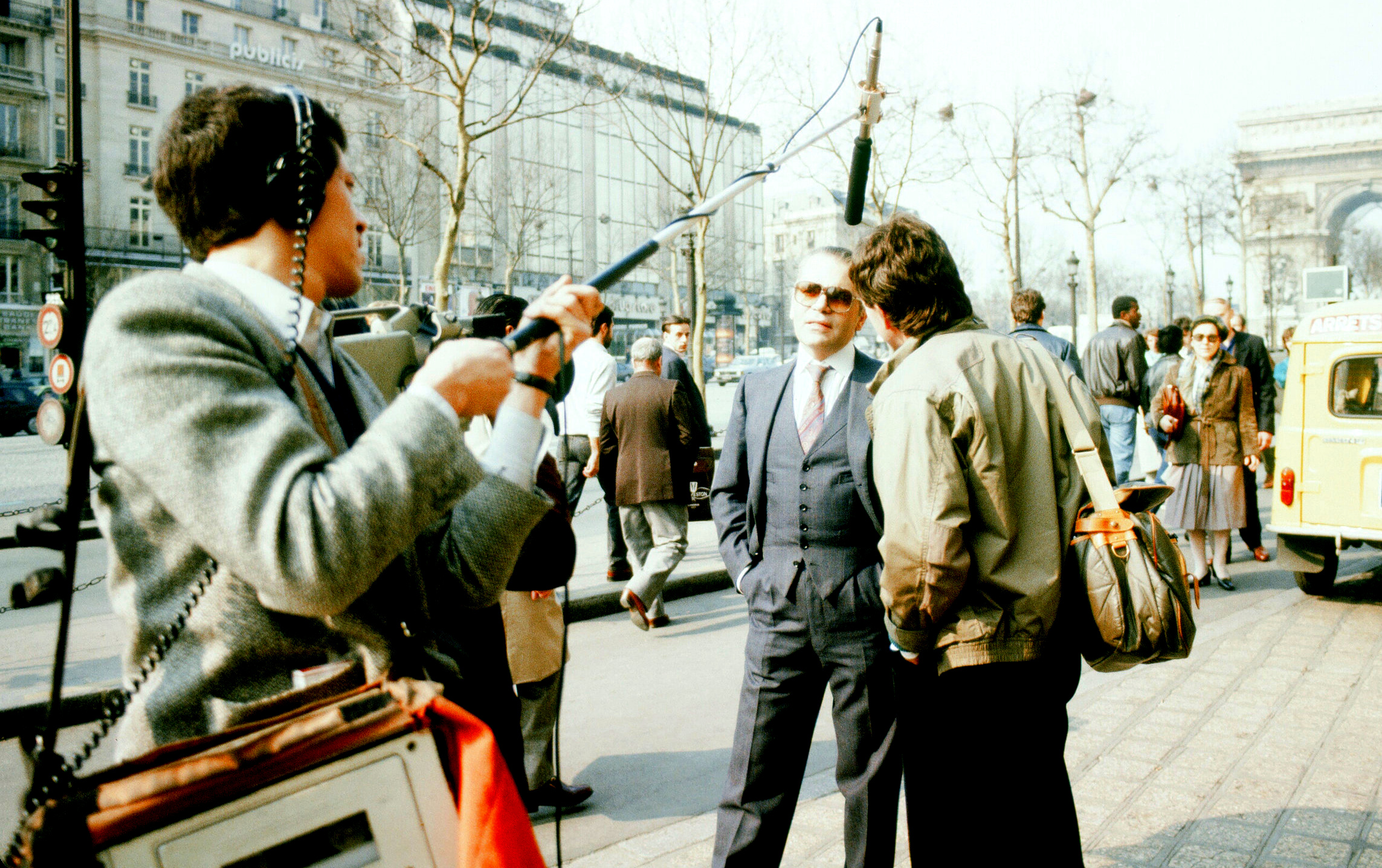 Karl Lagerfeld & Mike Cerre- Paris,1985