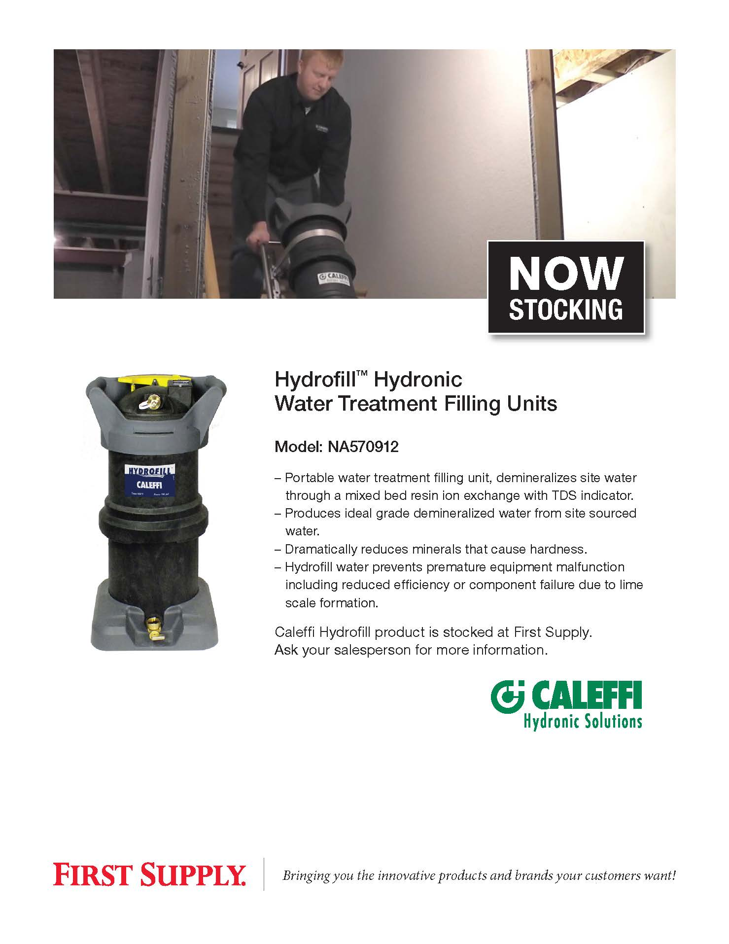 Caleffi Hydrofill Hydronic Water Treatment Filling Unit [ download pdf ]
