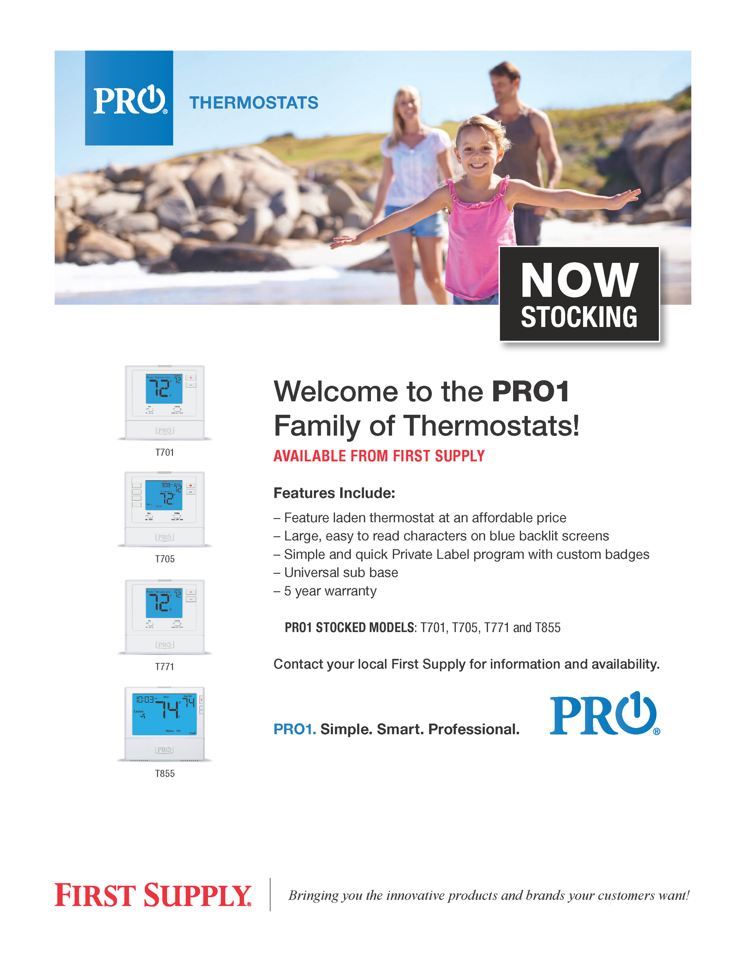 PRO1  Family of Thermostats [ download pdf ]