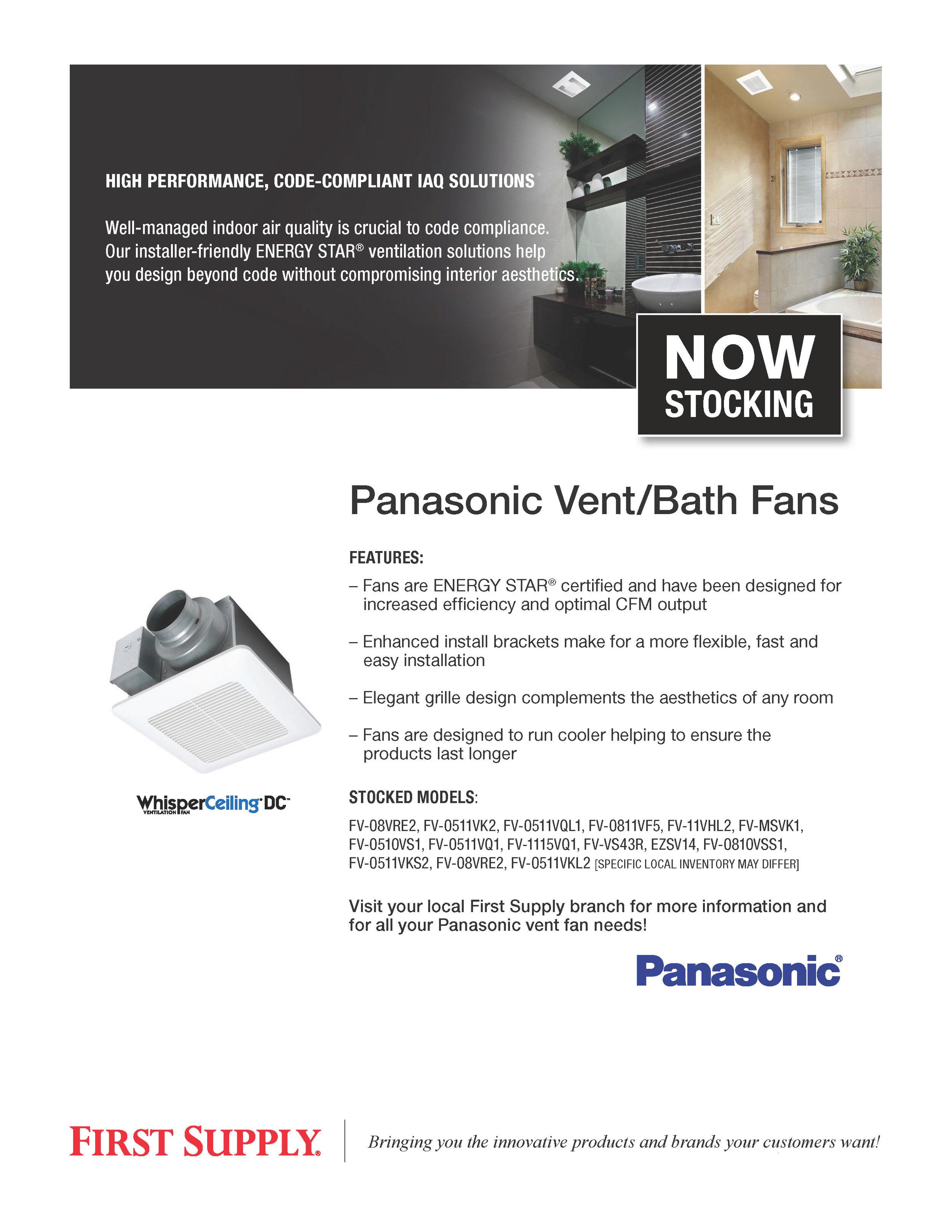 Panasonic Vent Bath Fans [ download pdf ]