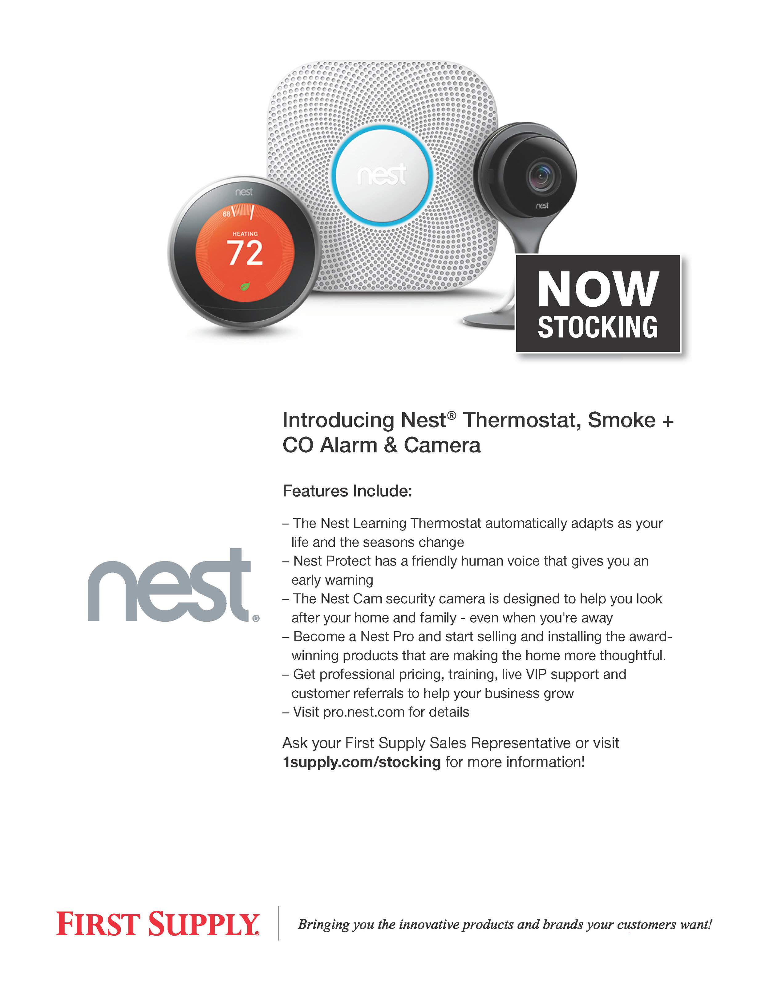 Nest Learning Thermostat, CO Alarm & Indoor Camera [ download pdf ]