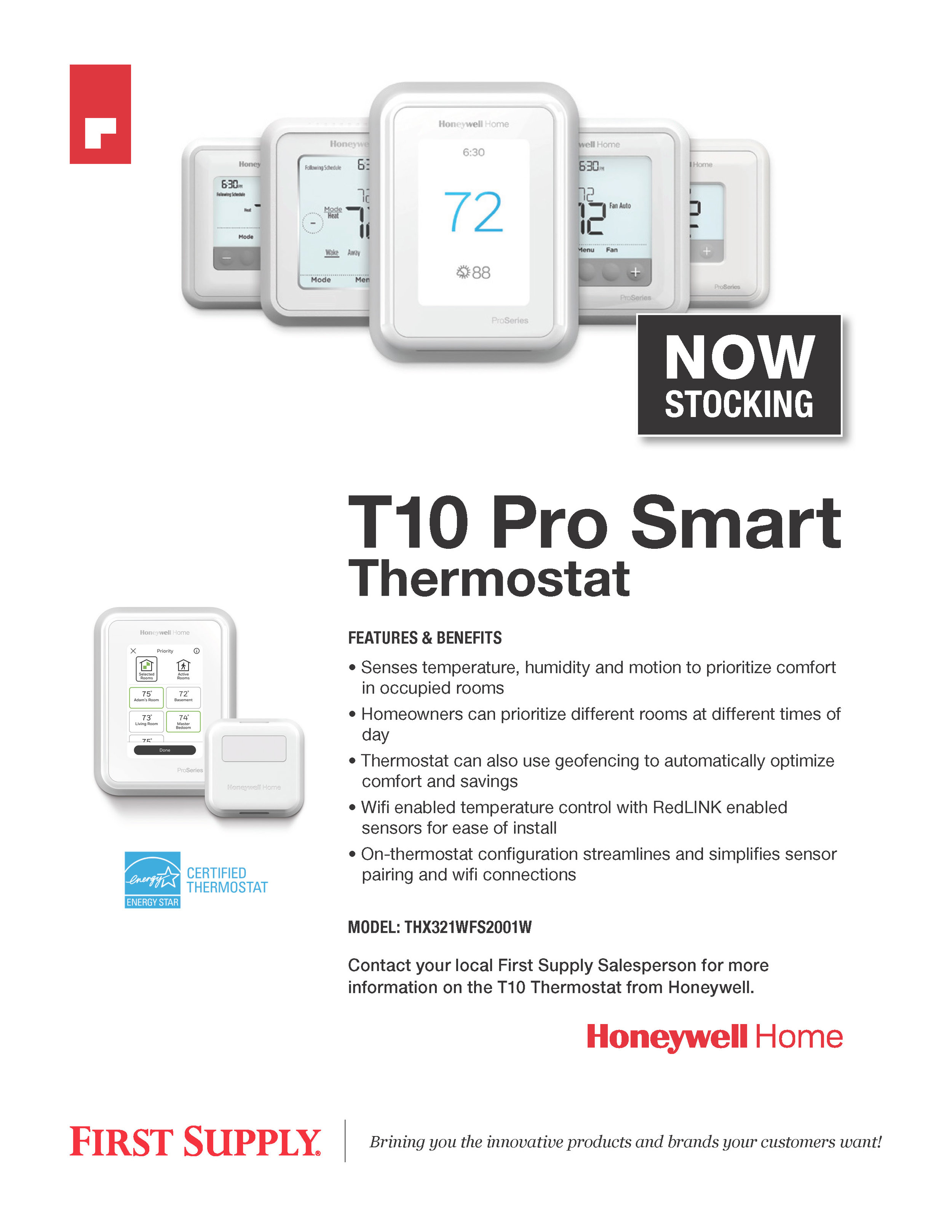 Honeywell T10 Pro Smart Thermostat [ download pdf ]